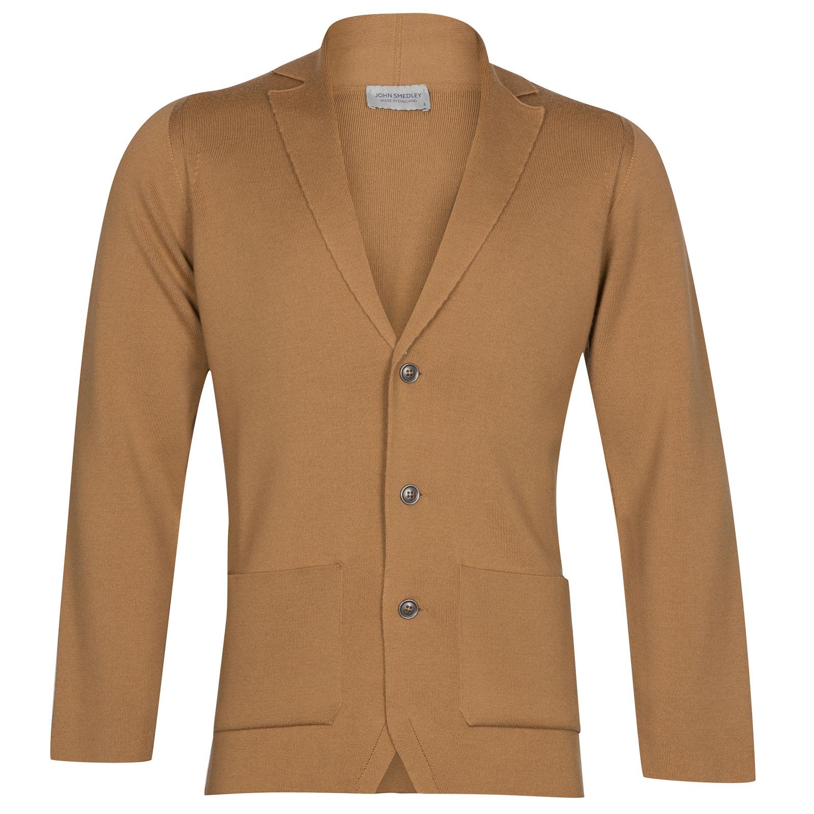 John Smedley Oxland Merino Wool Jacket in Camel-S