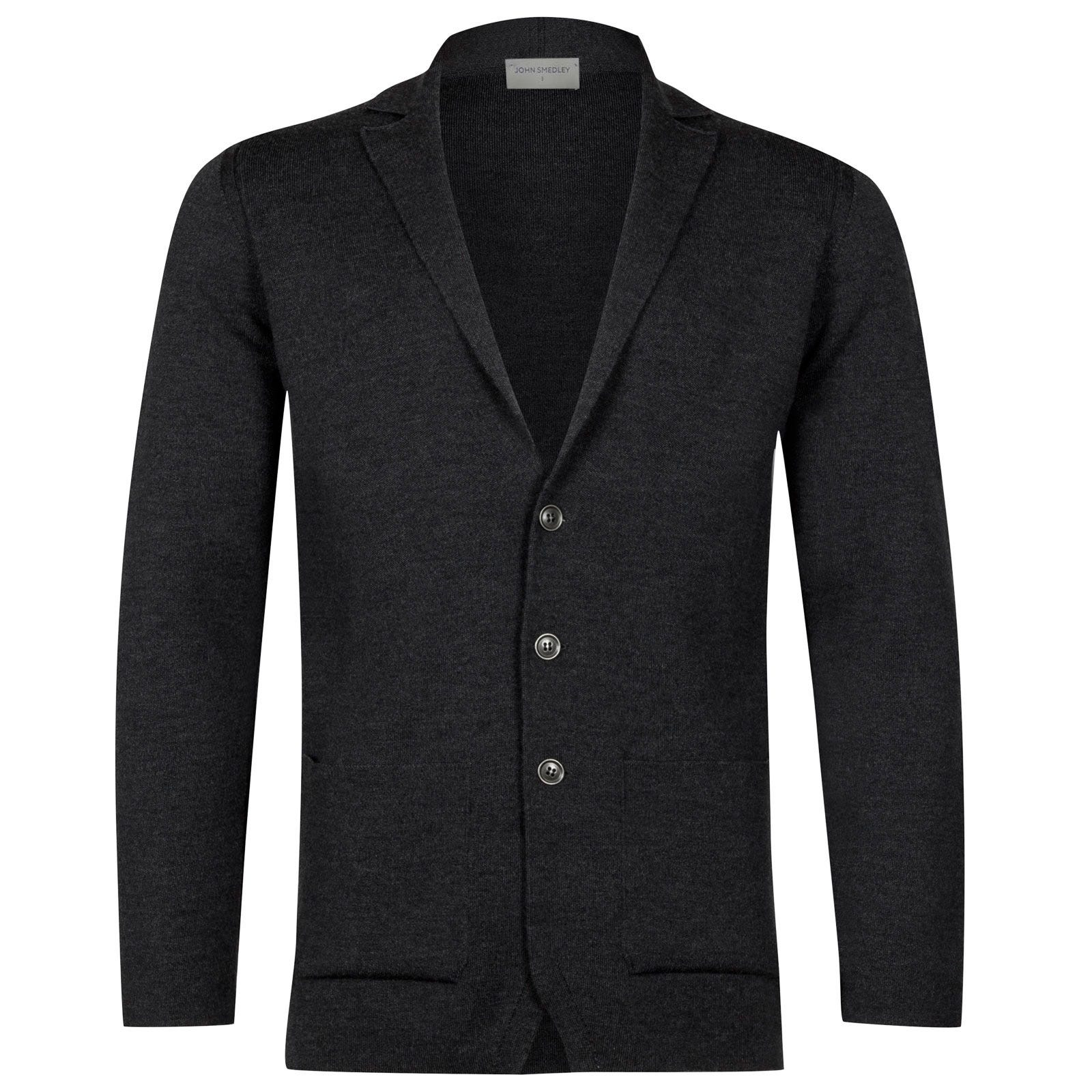 John Smedley Oxland Merino Wool Jacket in Charcoal-XL