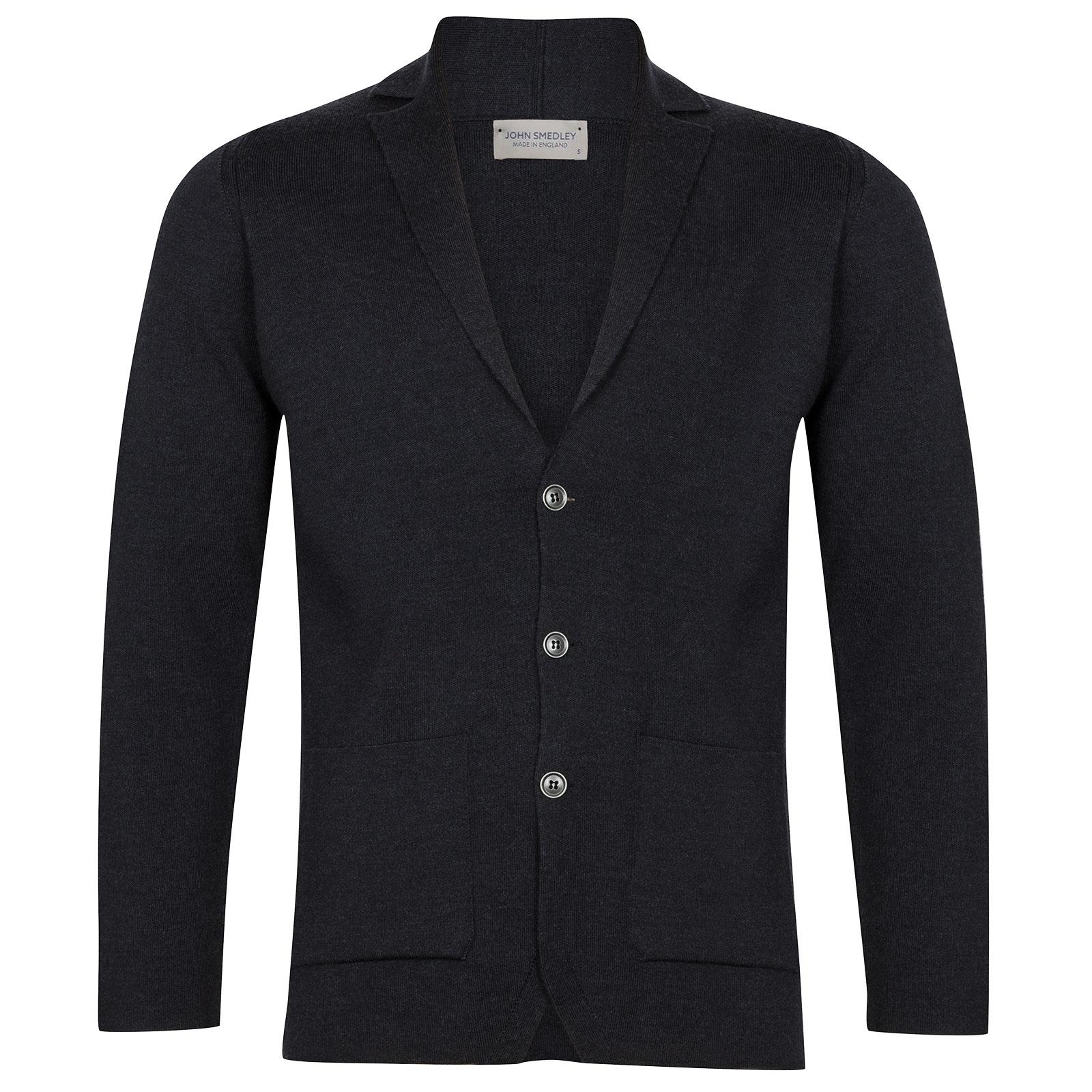 John Smedley Oxland Merino Wool Jacket in Hepburn Smoke-XXL