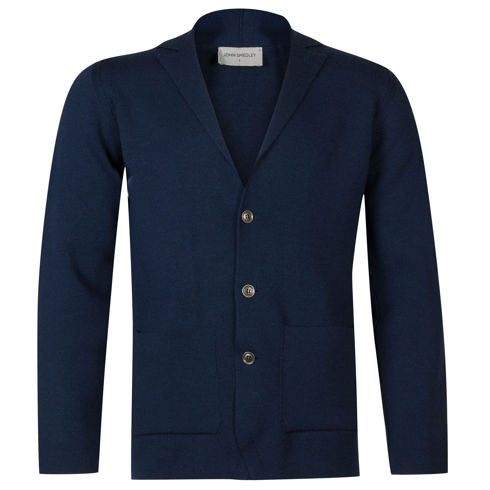 John Smedley Oxland Merino Wool Jacket in Indigo-M
