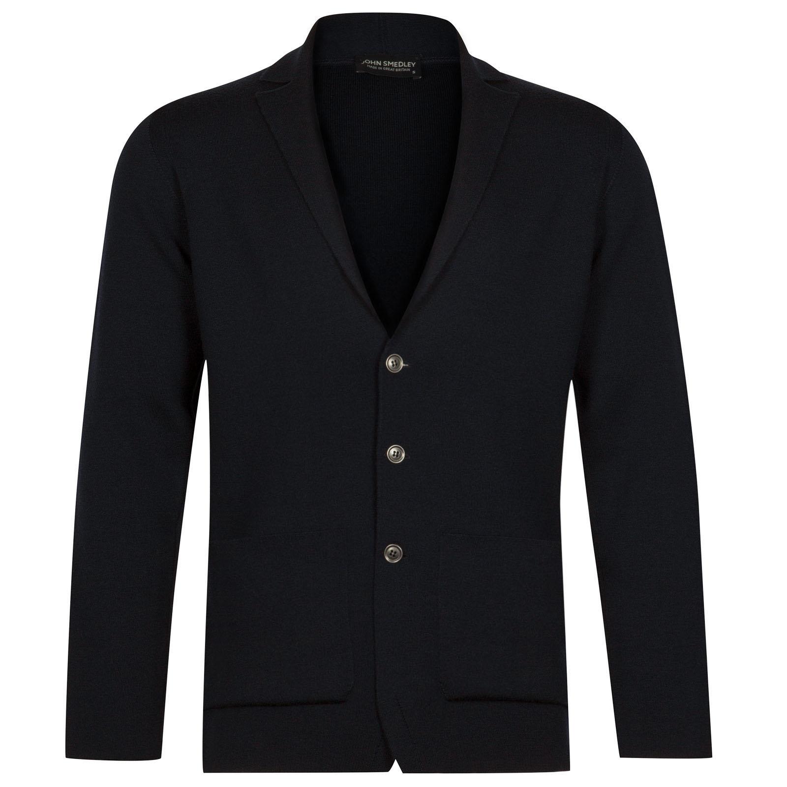 John Smedley Oxland Merino Wool Jacket in Midnight-XL
