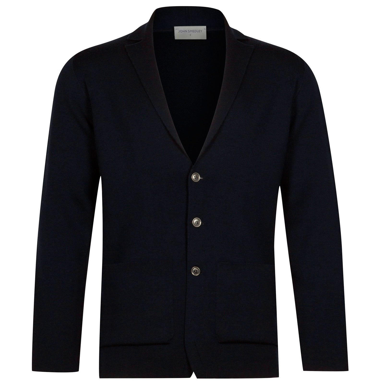 John Smedley Oxland Merino Wool Jacket in Midnight-L