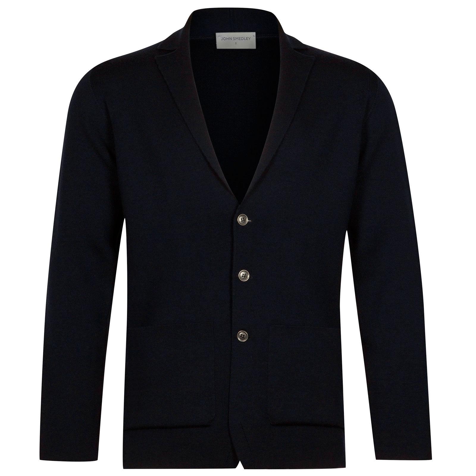 John Smedley Oxland Merino Wool Jacket in Midnight-XXL