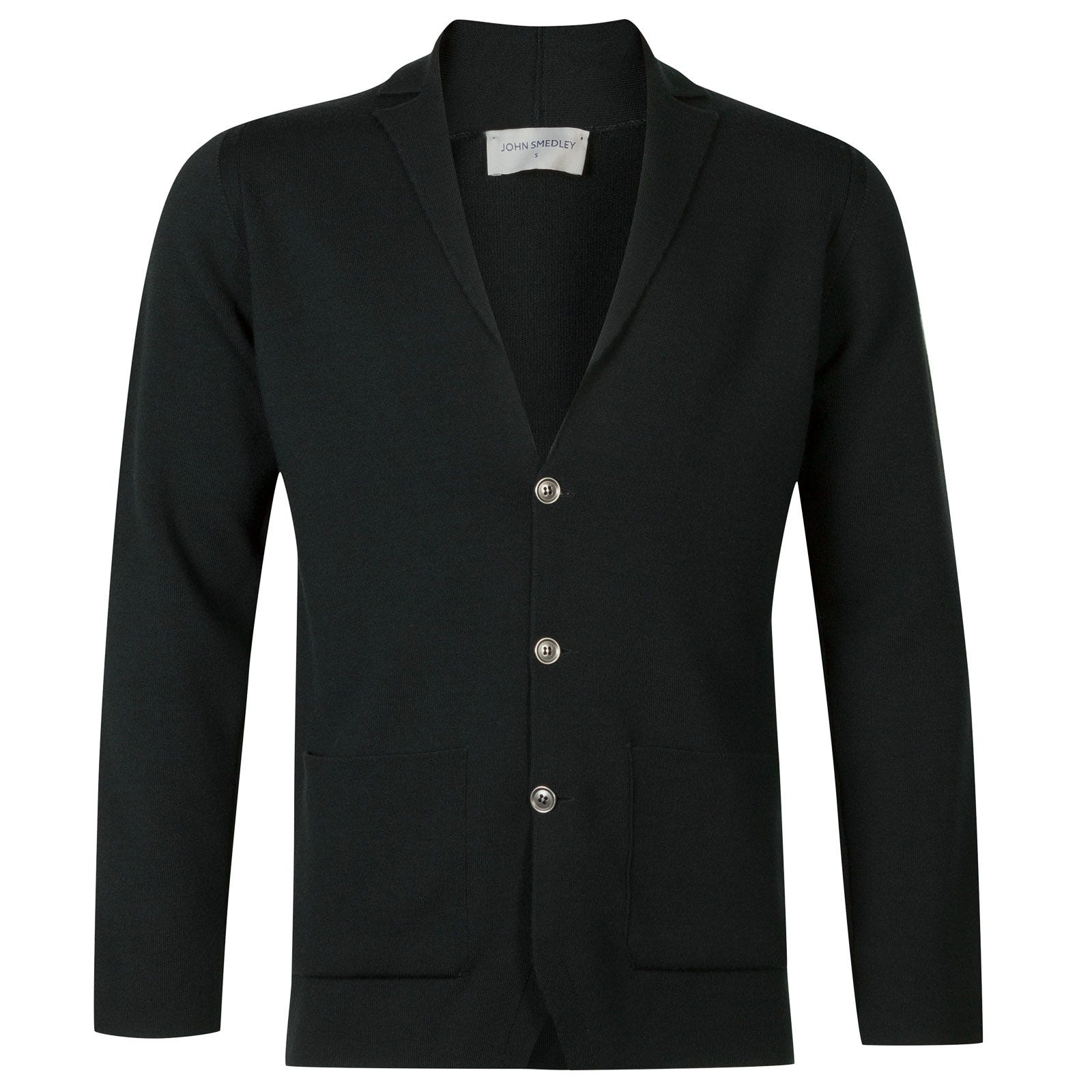 John Smedley Oxland Merino Wool Jacket in Racing Green-XL
