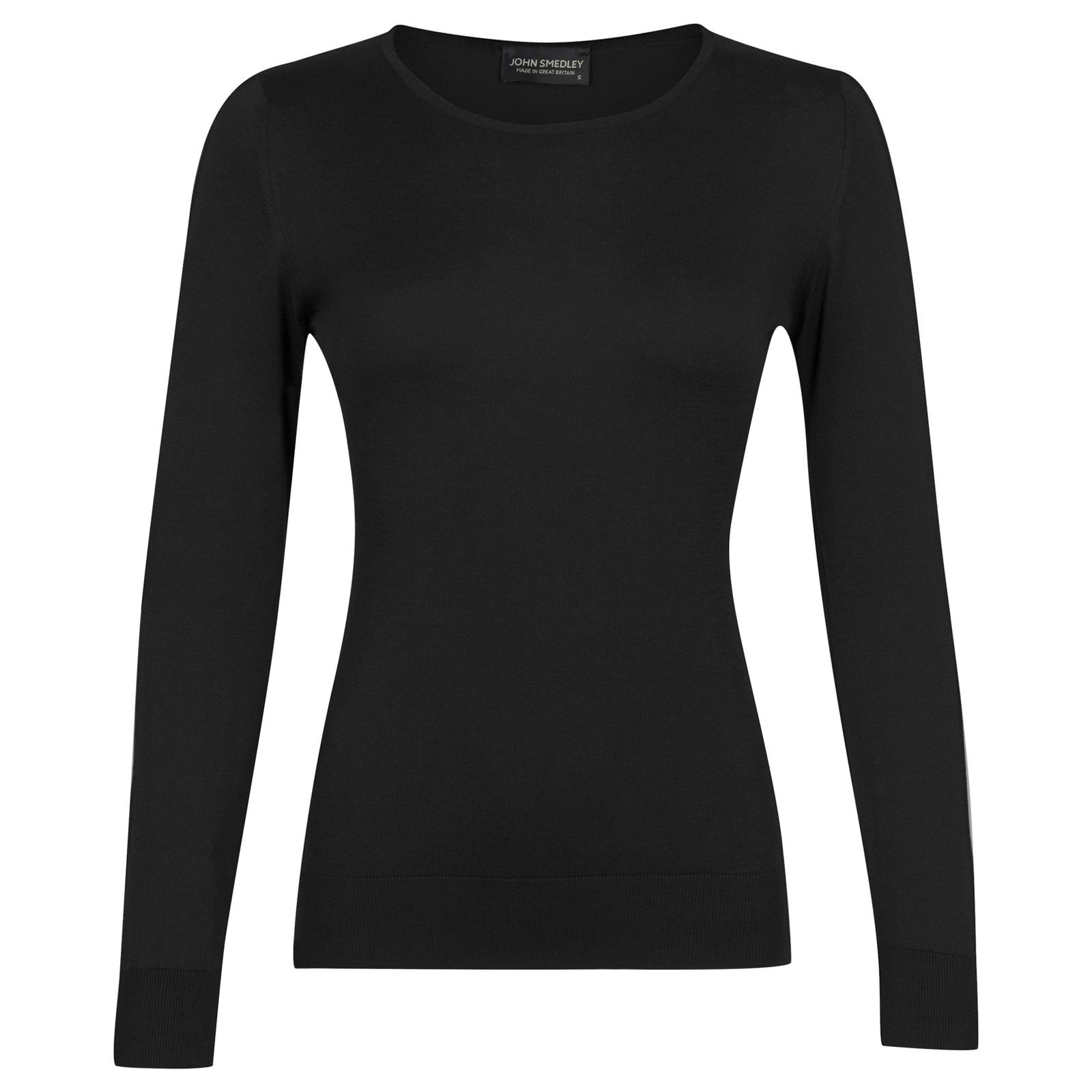 John Smedley paddington Sea Island Cotton Sweater in Black-M