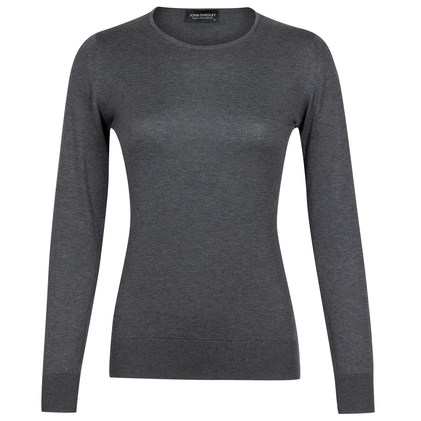 John Smedley paddington Sea Island Cotton Sweater in Charcoal-M