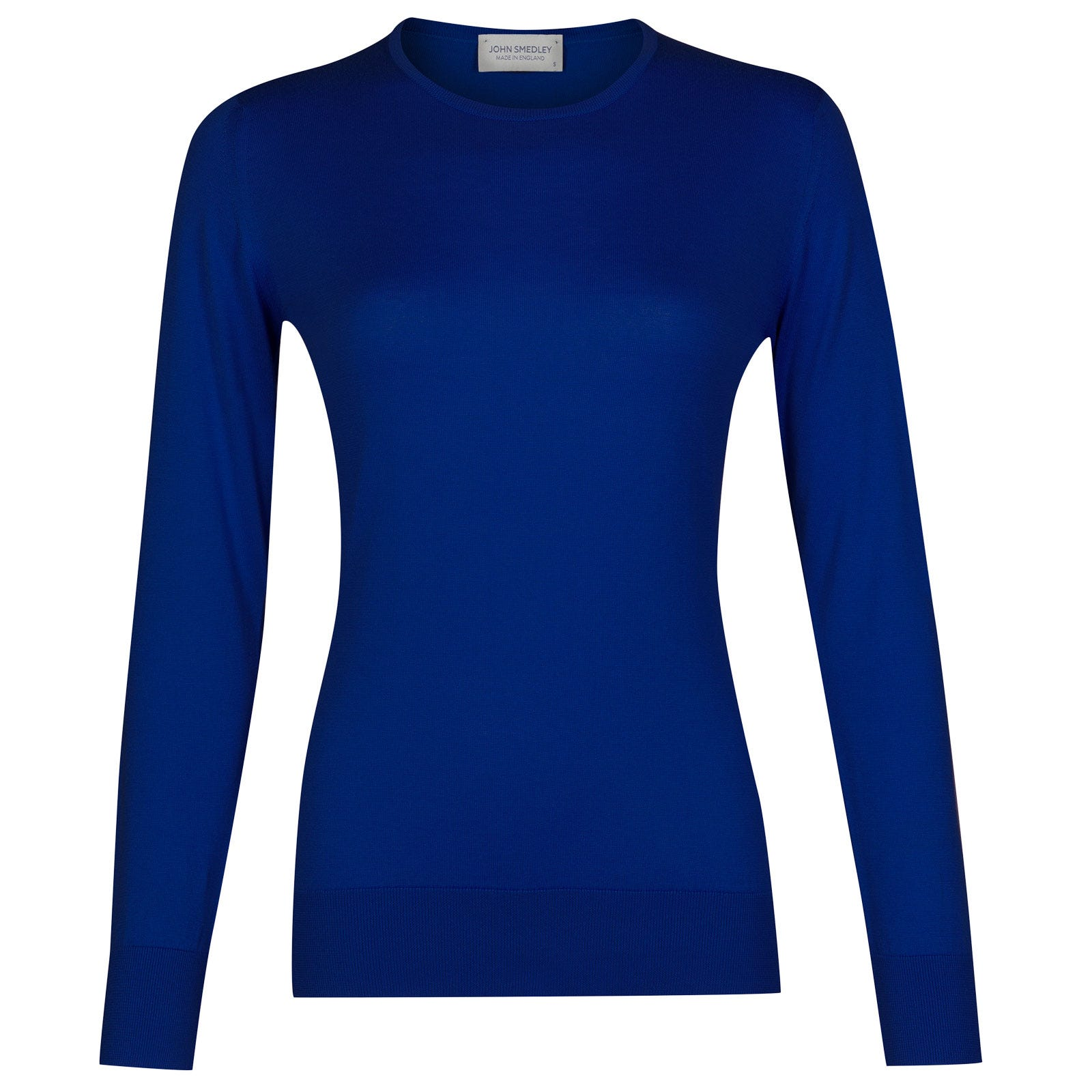 John Smedley paddington Sea Island Cotton Sweater in Coniston Blue-XL