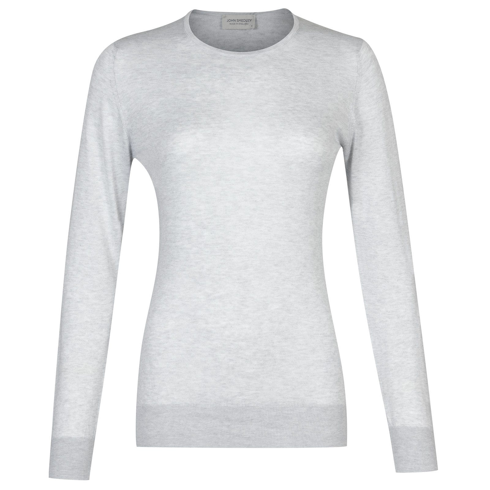 John Smedley paddington Sea Island Cotton Sweater in Feather Grey-S