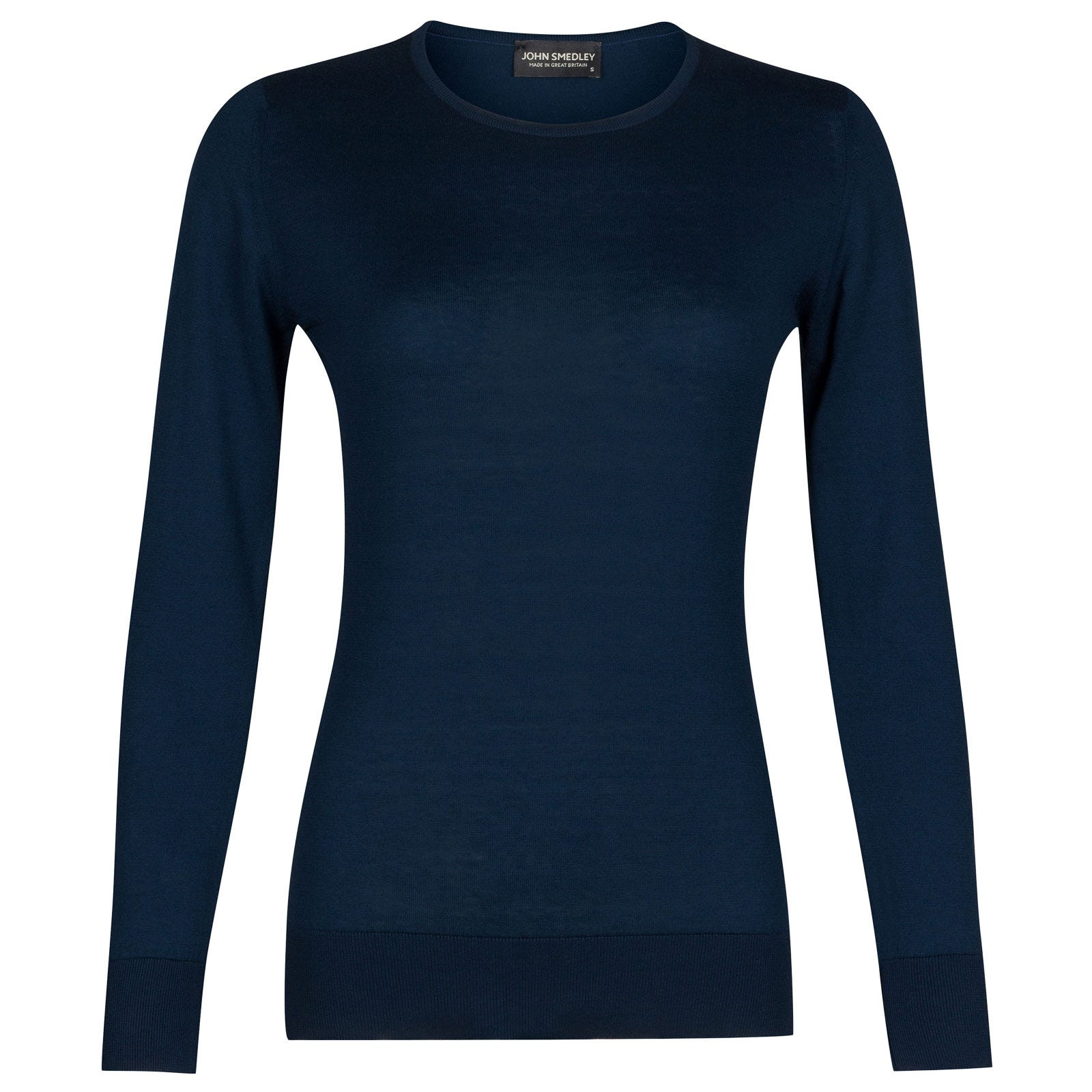 John Smedley paddington Sea Island Cotton Sweater in Indigo-L