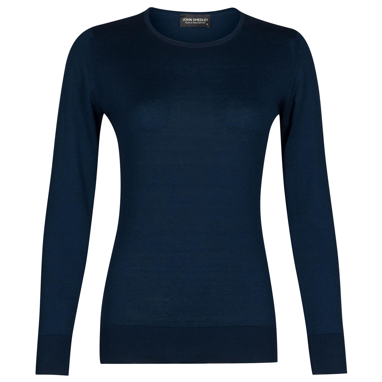 John Smedley paddington Sea Island Cotton Sweater in Indigo-XL
