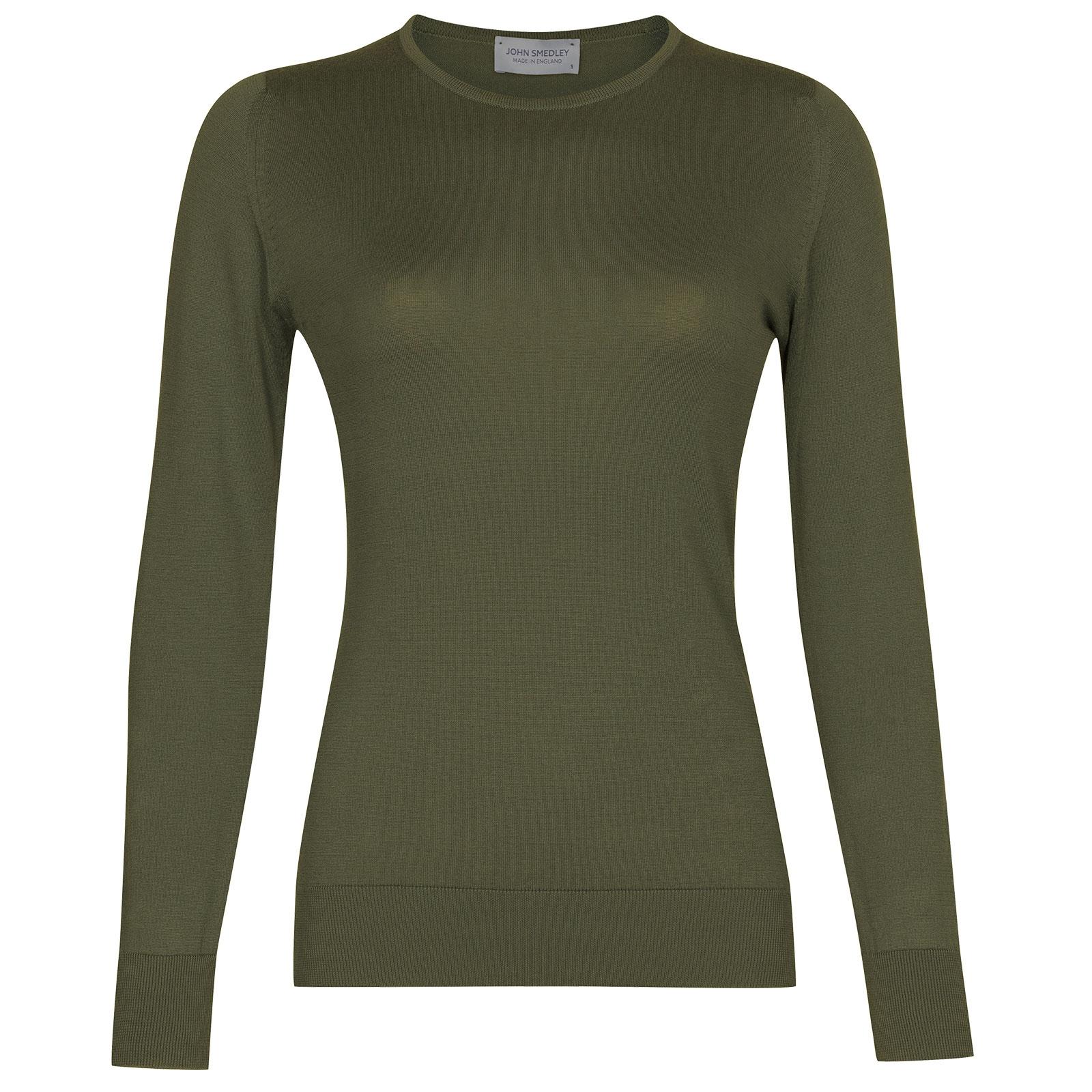 John Smedley Paddington in Sepal Green Sweater-SML