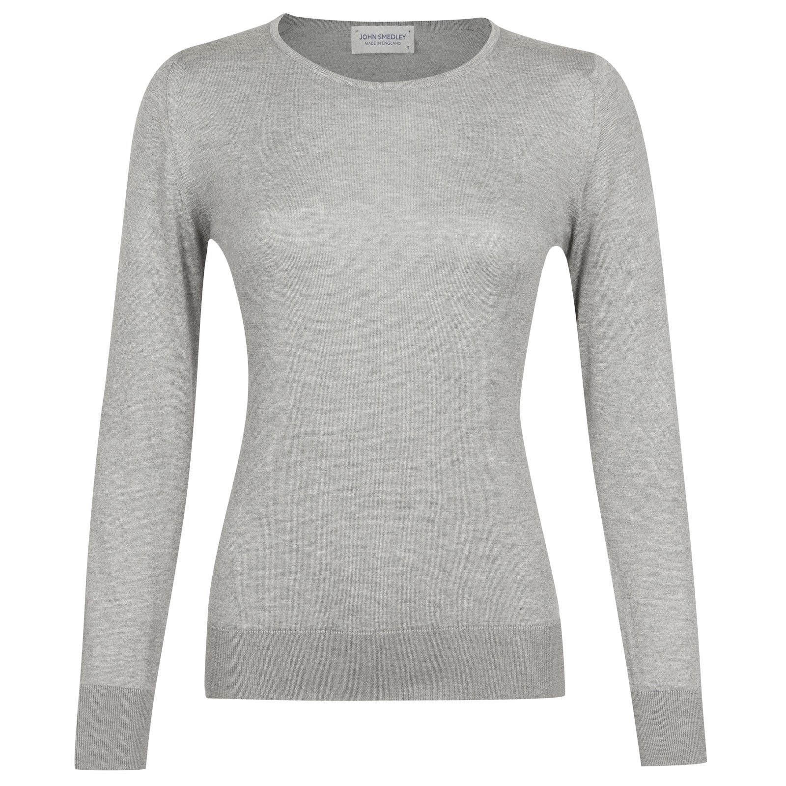 John Smedley Paddington in Silver Sweater-MED