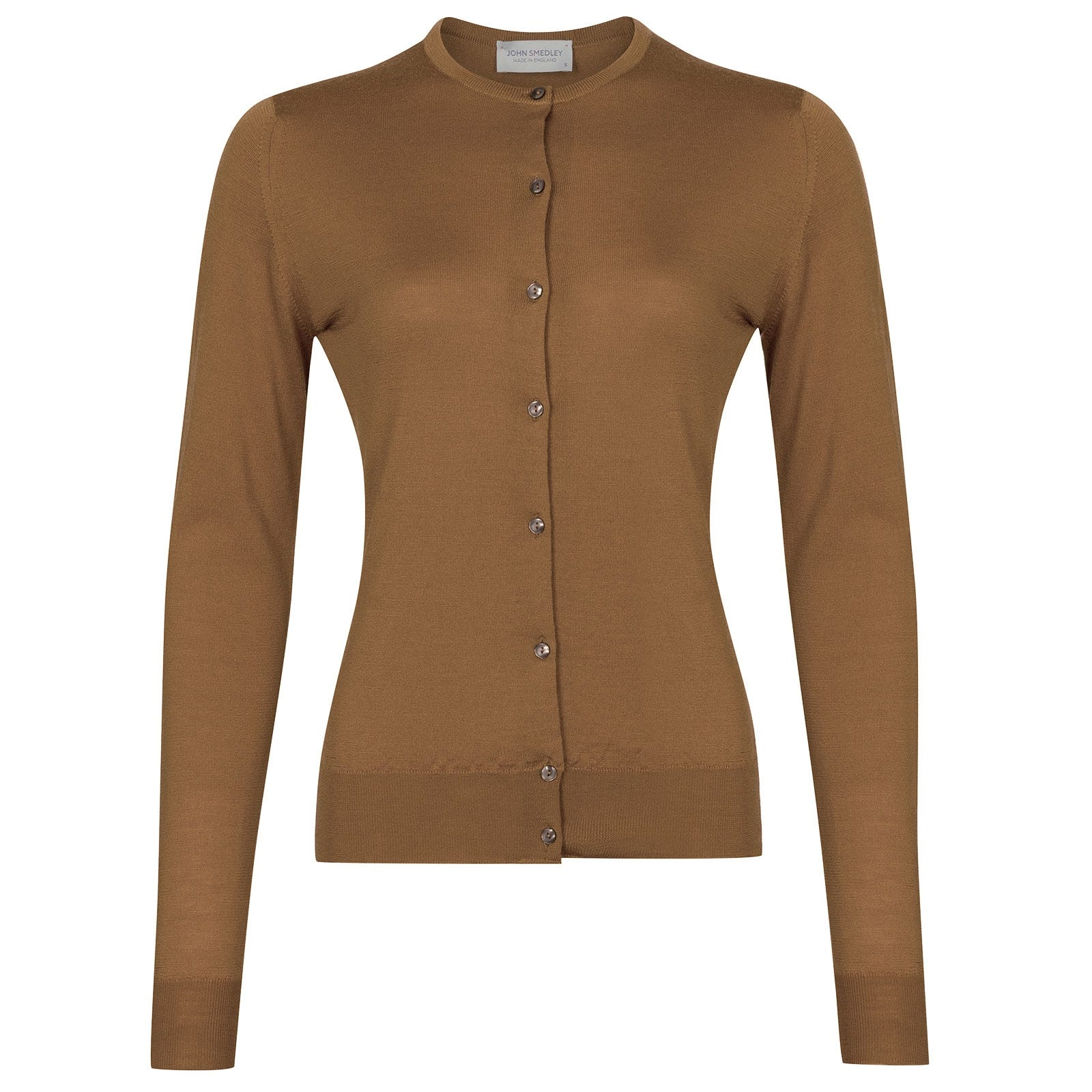 John Smedley Pansy in Camel Cardigan-XLG