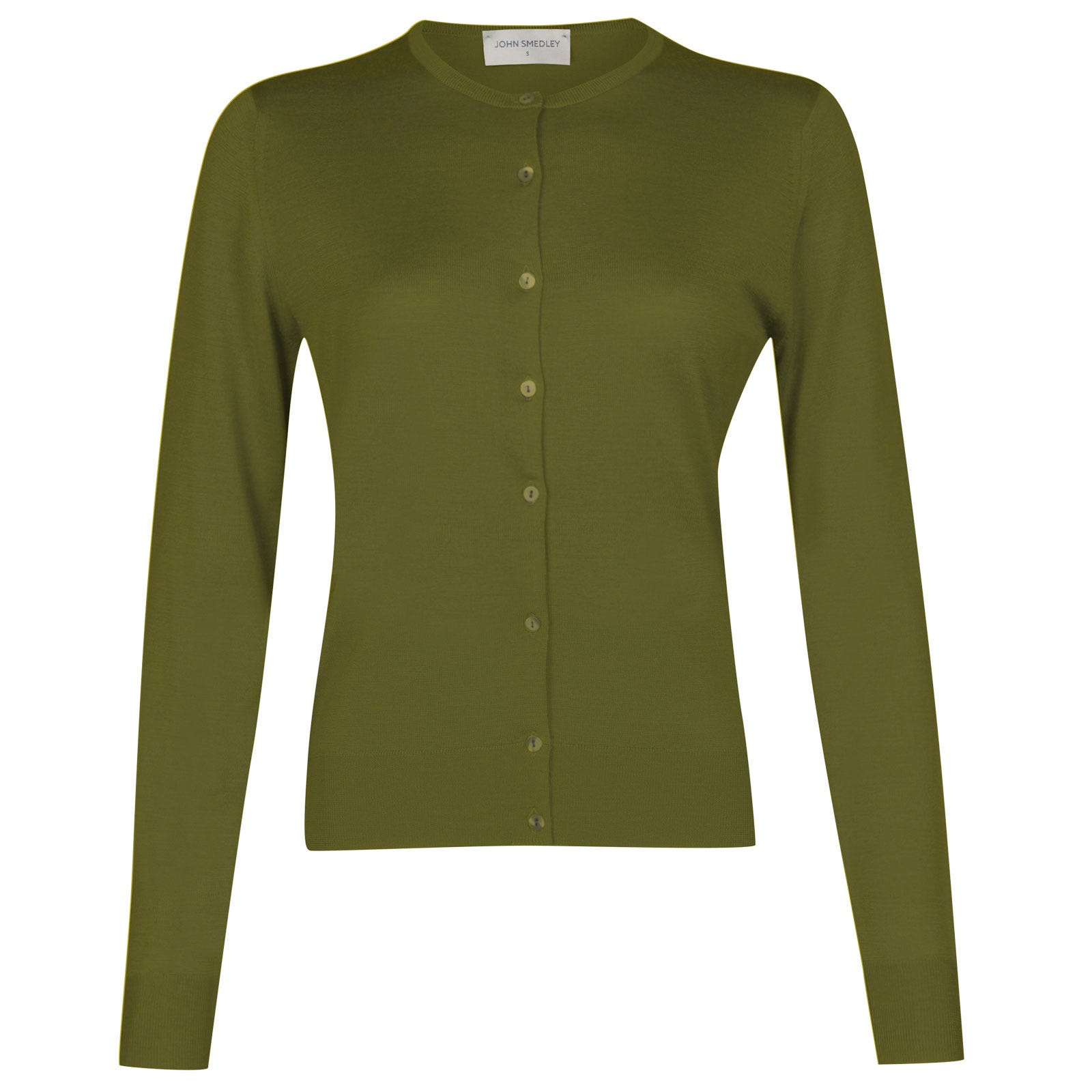 John Smedley pansy Merino Wool Cardigan in Lumsdale Green-XL