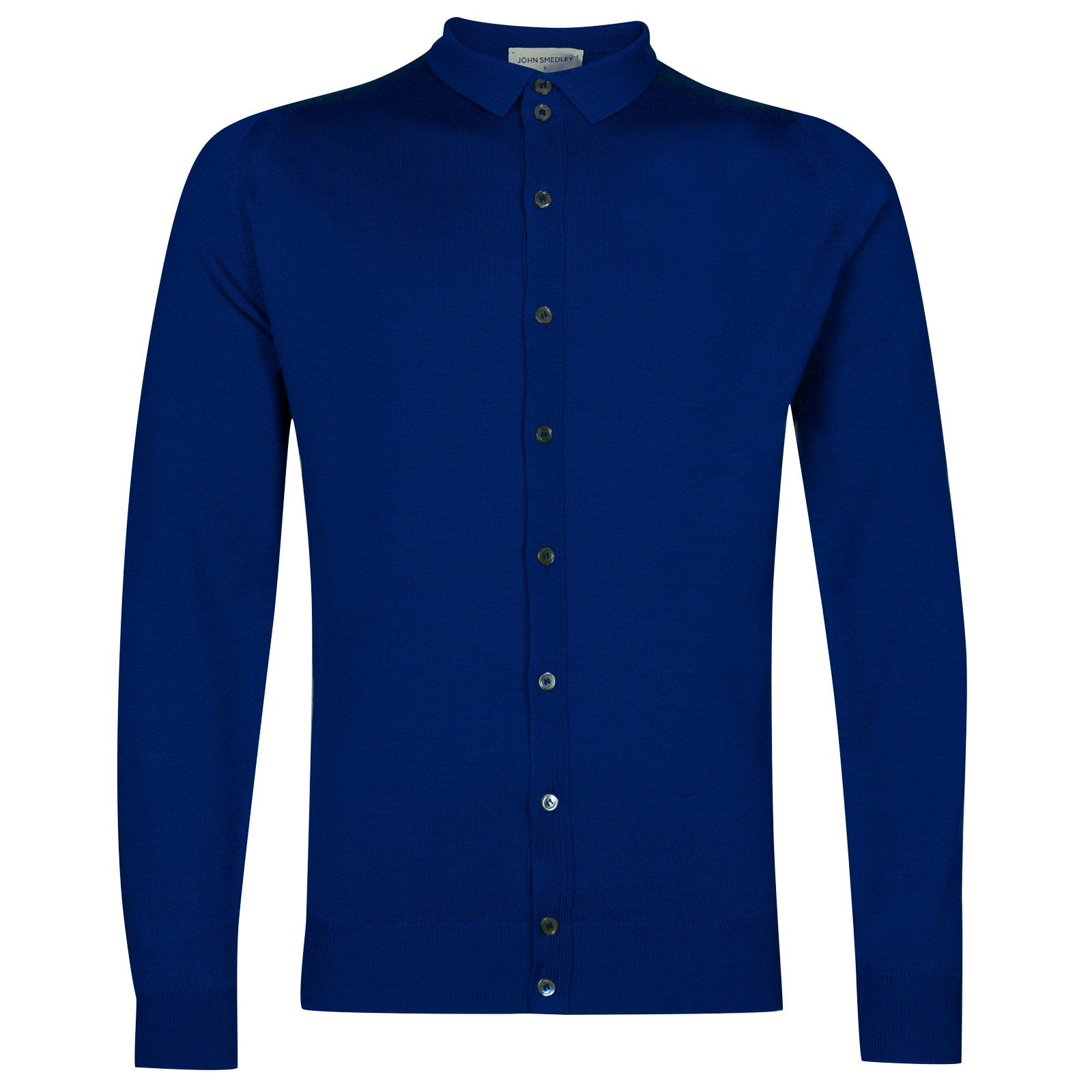 John Smedley parwish Merino Wool Shirt in Coniston Blue-L