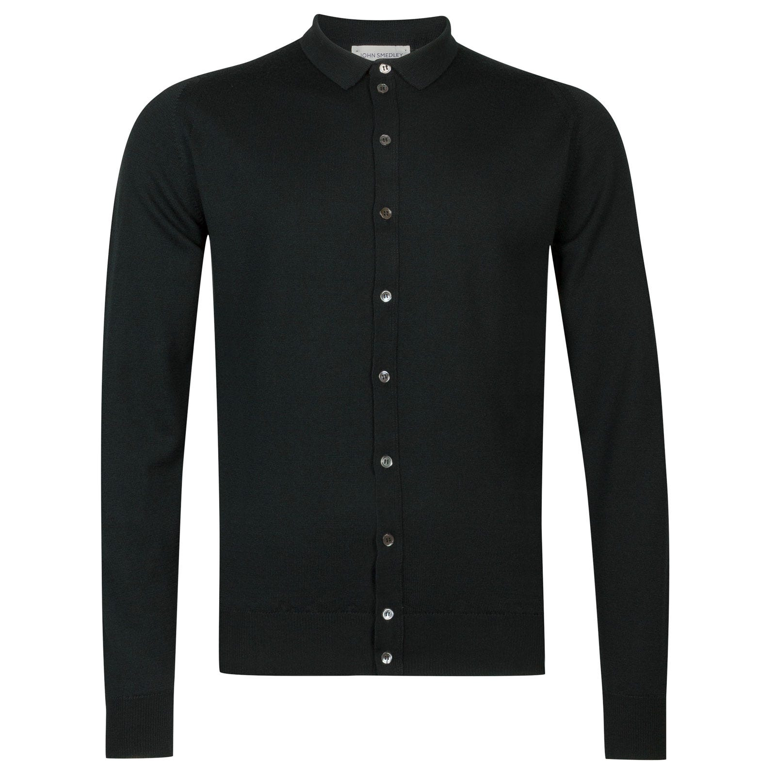 John Smedley parwish Merino Wool Shirt in Racing Green-XXL