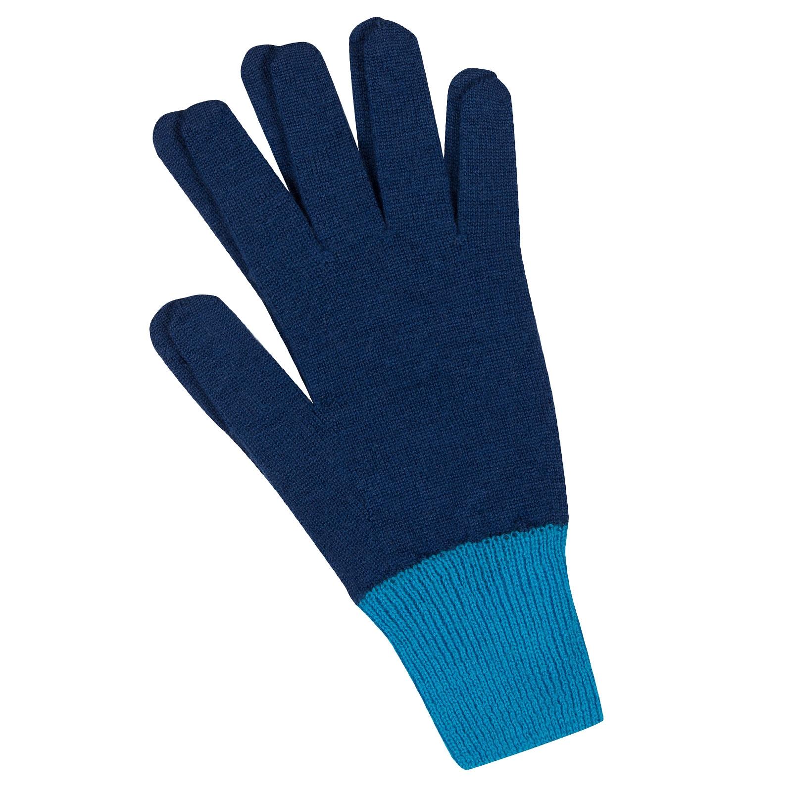 John Smedley Pasteur Merino Wool Gloves in Magnetic Cobalt-m/l