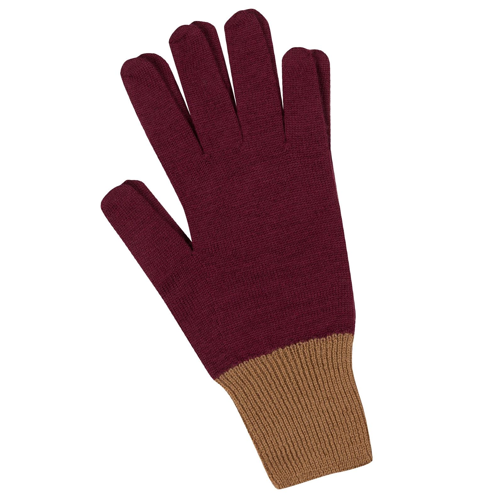 John Smedley Pasteur Merino Wool Gloves in Bordeaux-m/l