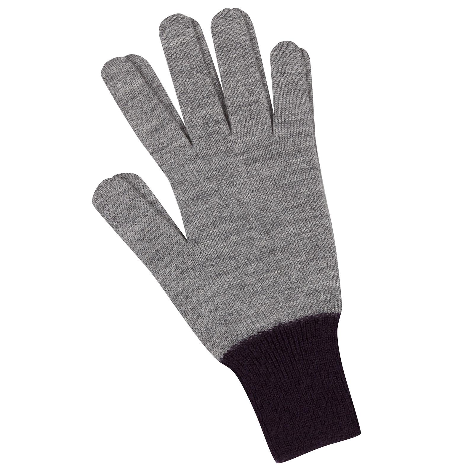 John Smedley Pasteur Merino Wool Gloves in Silver-m/l