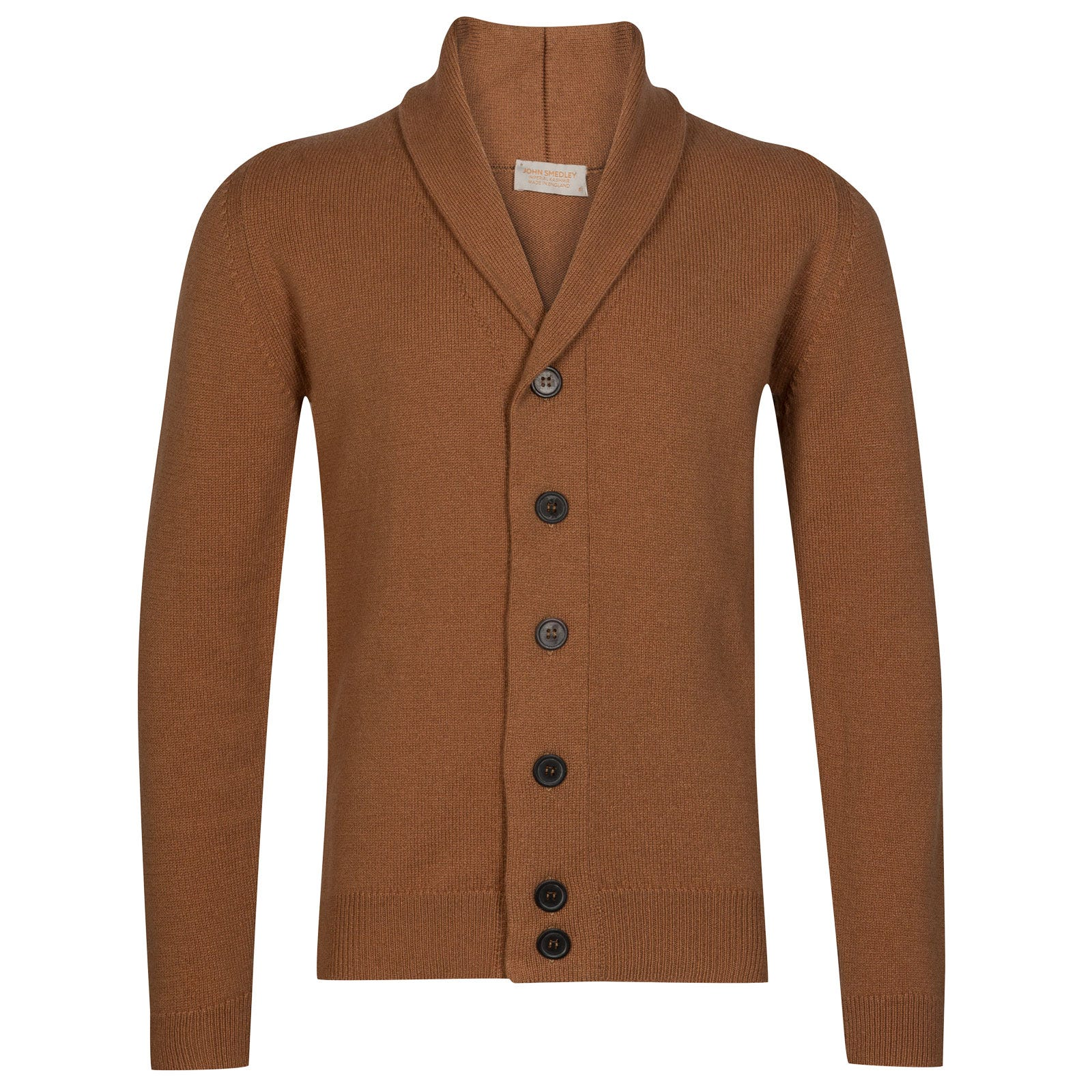 John Smedley patterson Wool and Cashmere Jacket in Camel-L