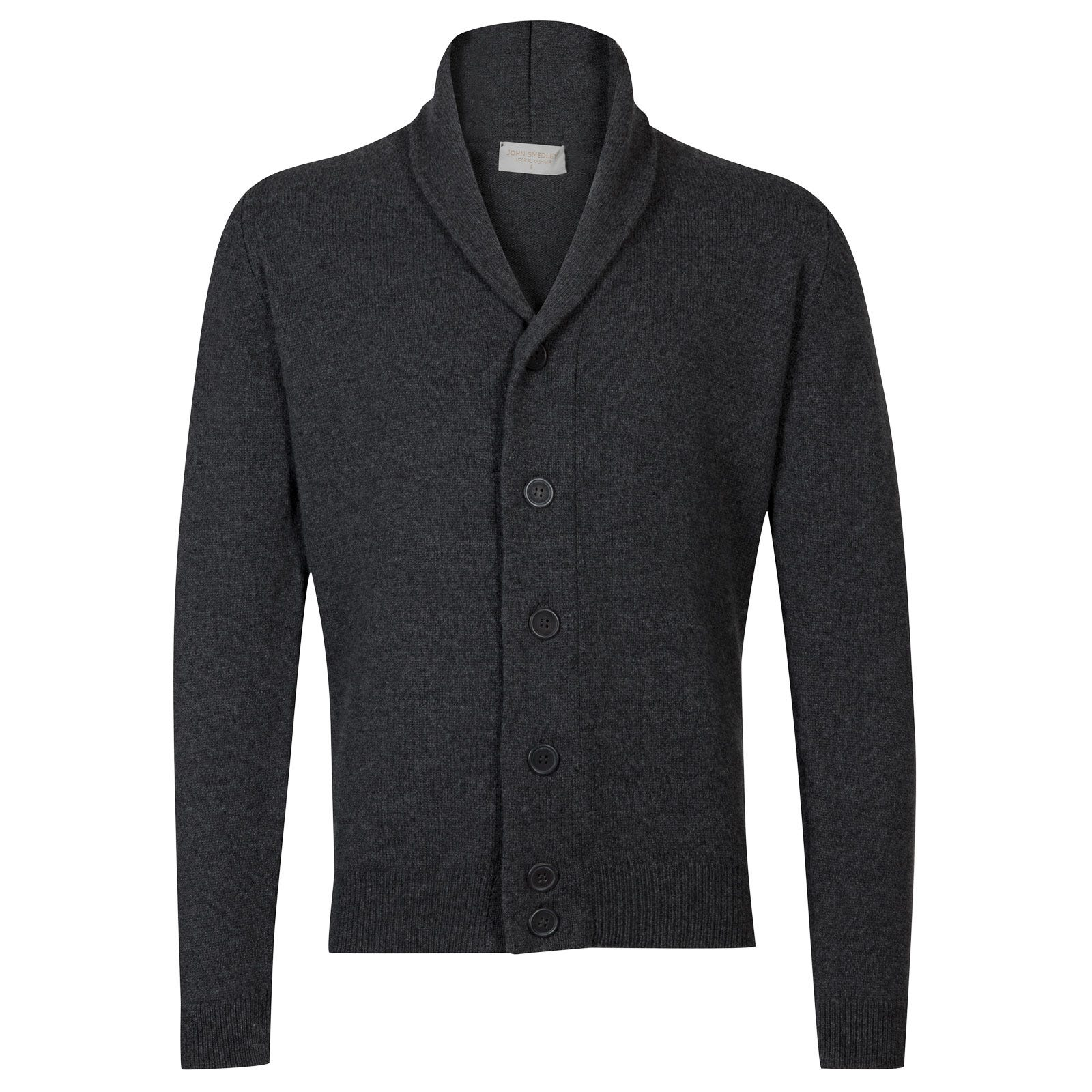 John Smedley patterson Wool and Cashmere Jacket in Charcoal-XL