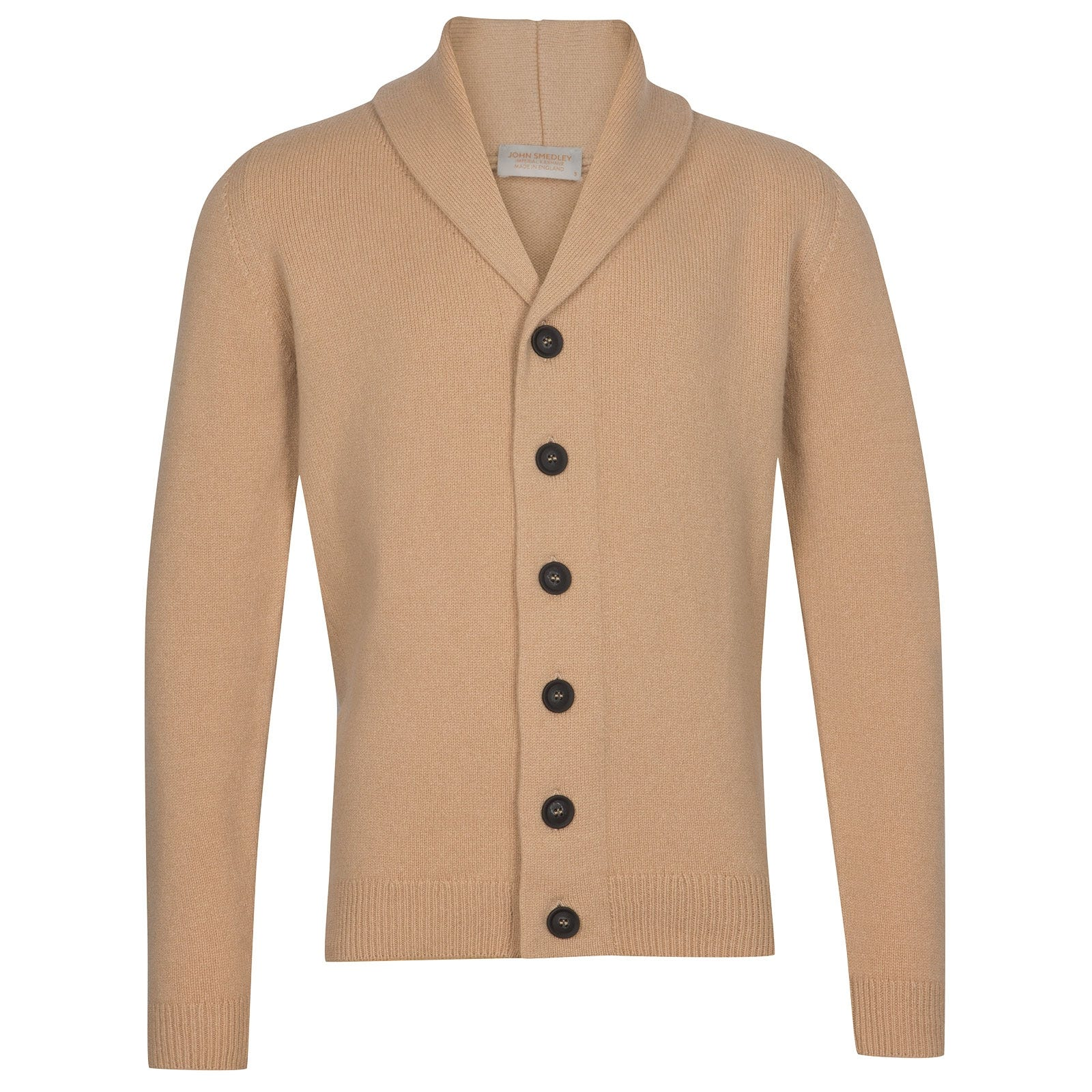 John Smedley patterson Wool and Cashmere Jacket in Light Camel-M