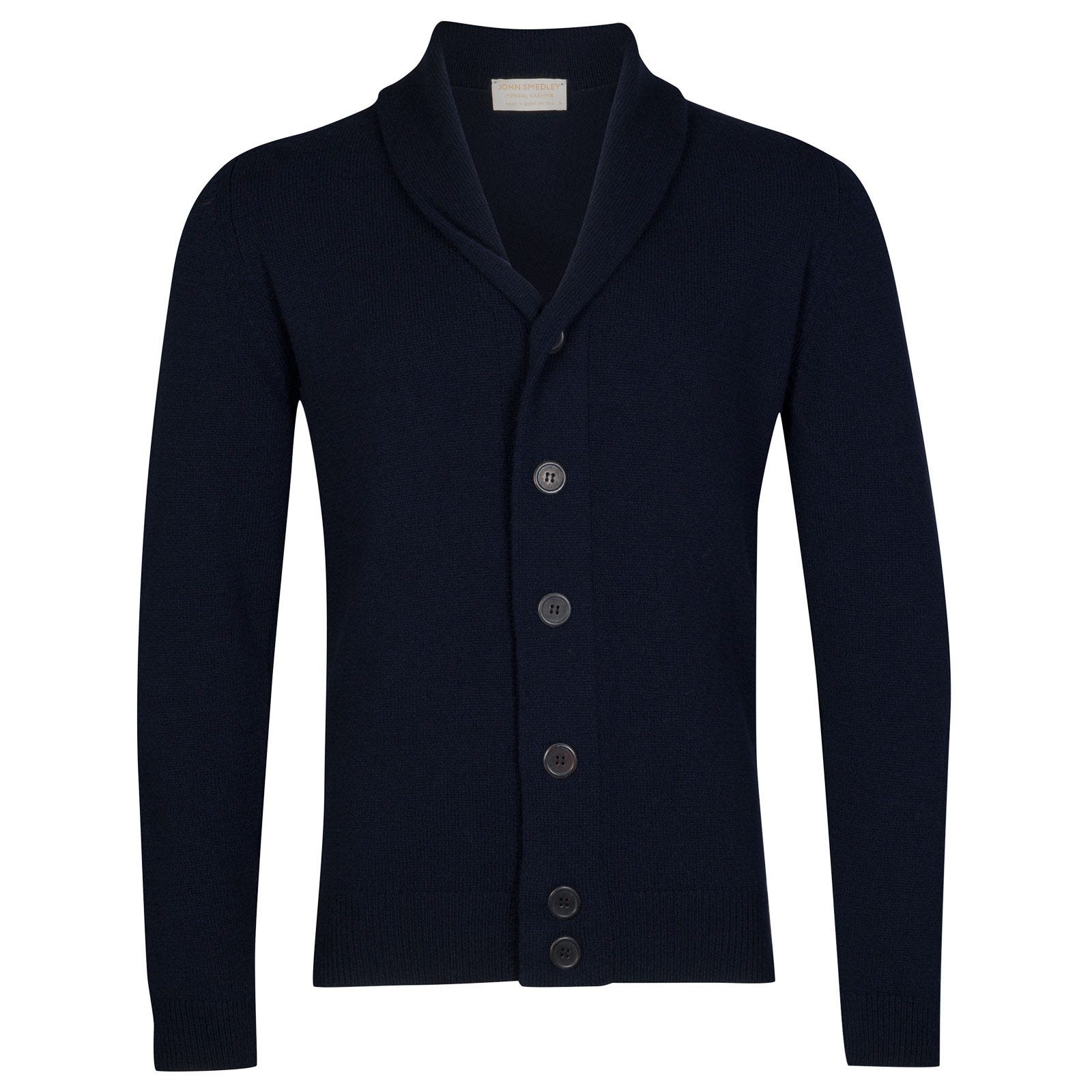 John Smedley patterson Wool and Cashmere Jacket in Midnight-S