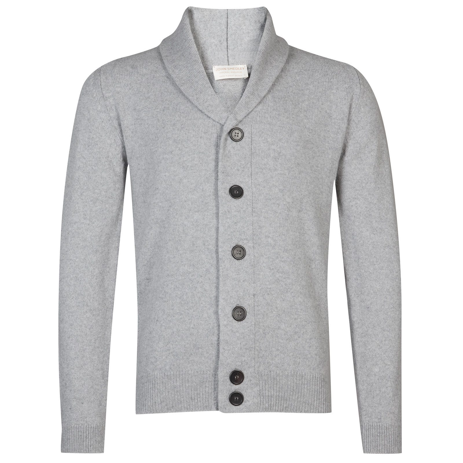 John Smedley patterson Wool and Cashmere Jacket in Silver-M