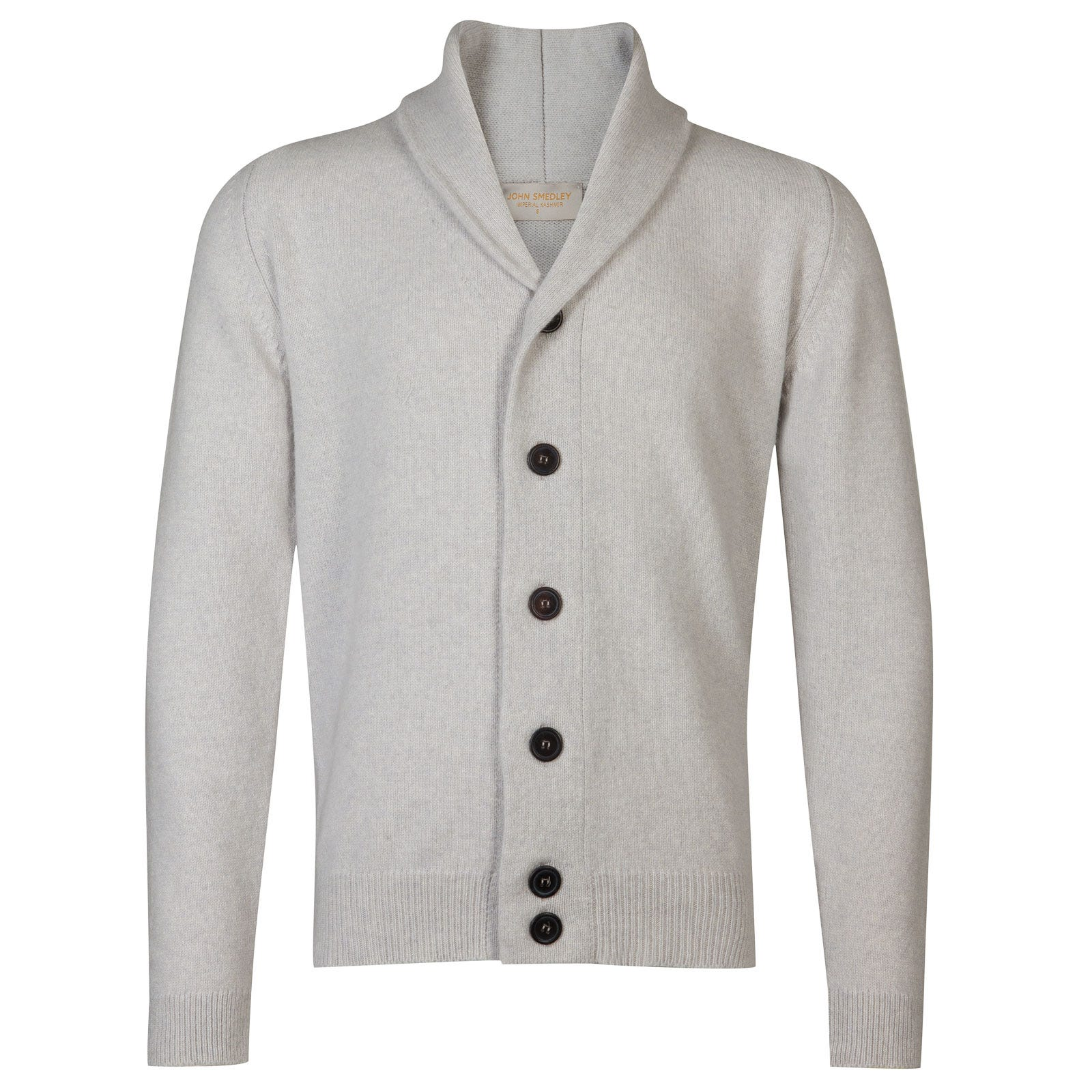 John Smedley patterson Wool and Cashmere Jacket in Soft Grey-XXL