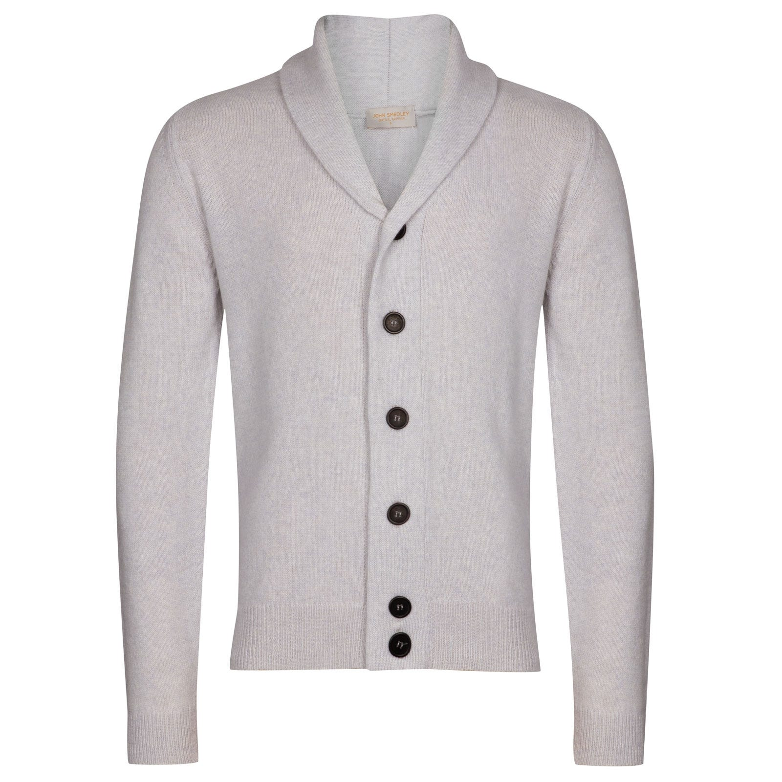 John Smedley patterson Wool and Cashmere Jacket in Soft Grey-XL