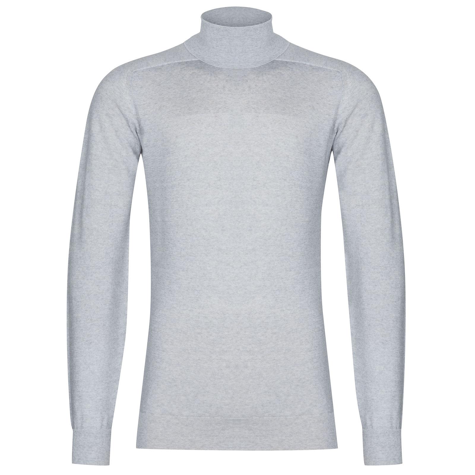 John Smedley Paxon Extra Fine Merino Pullover in Silver-M