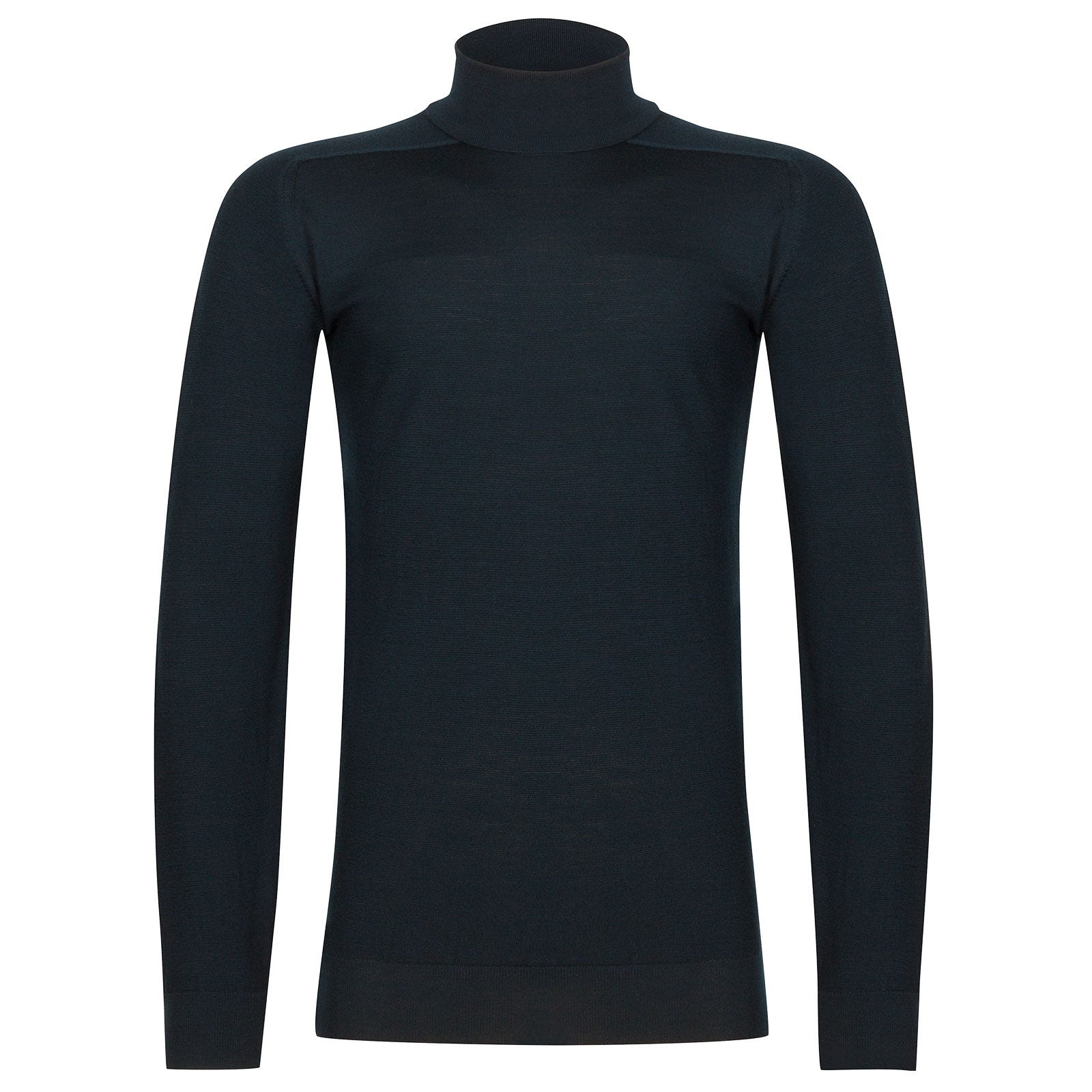 John Smedley Paxon Extra Fine Merino Pullover in Orion Green-XL