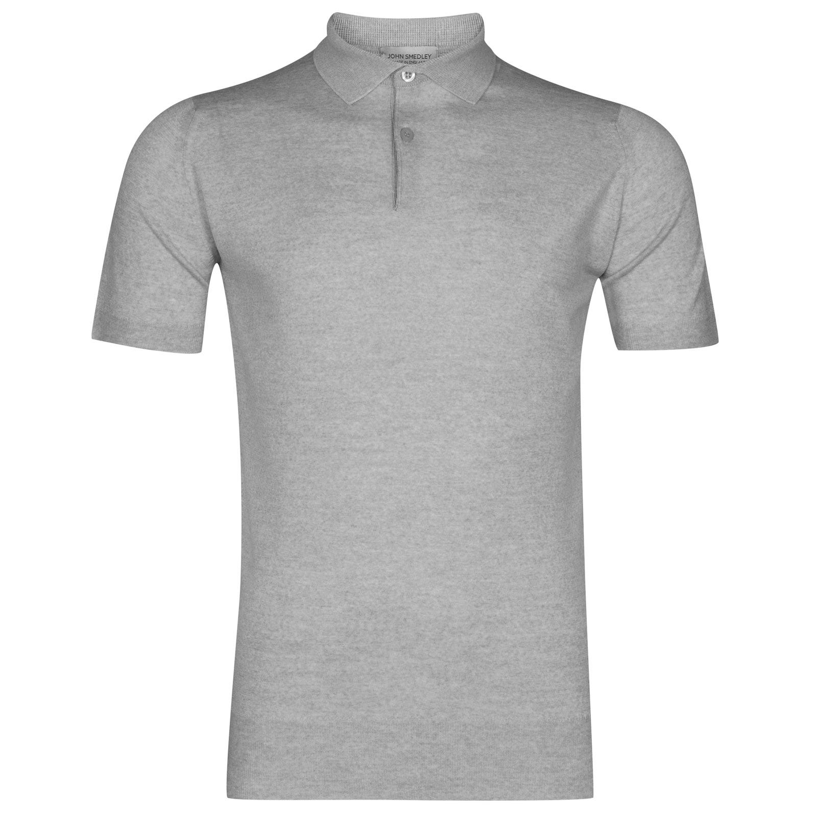 John Smedley payton Merino Wool Shirt in Bardot Grey-XL