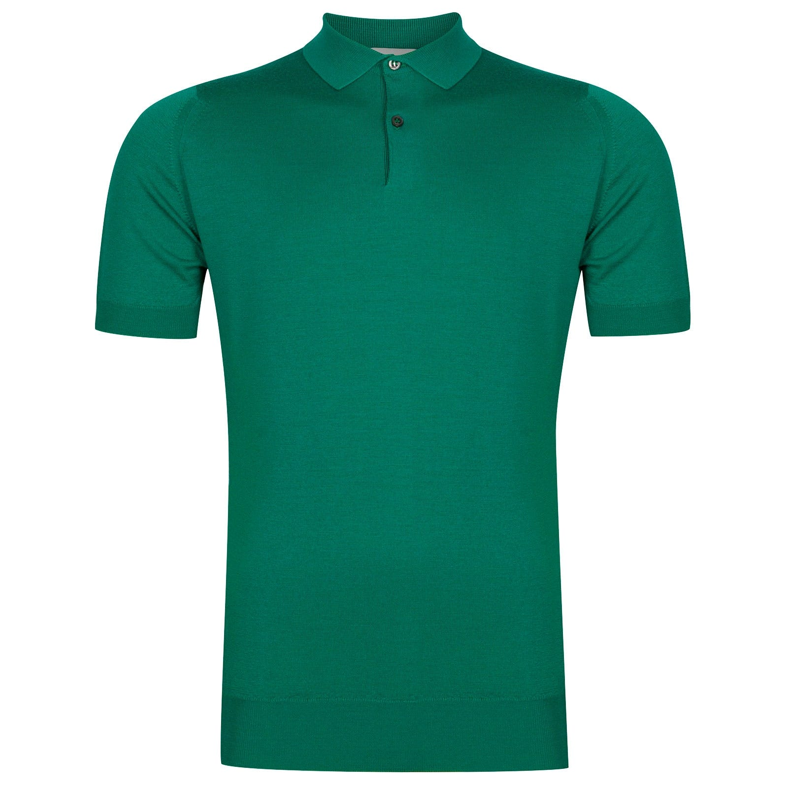 John Smedley Payton Merino Wool Shirt in Boron Green-XL