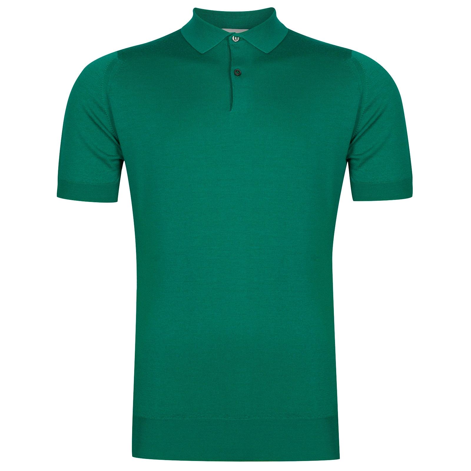 John Smedley Payton Merino Wool Shirt in Boron Green-L