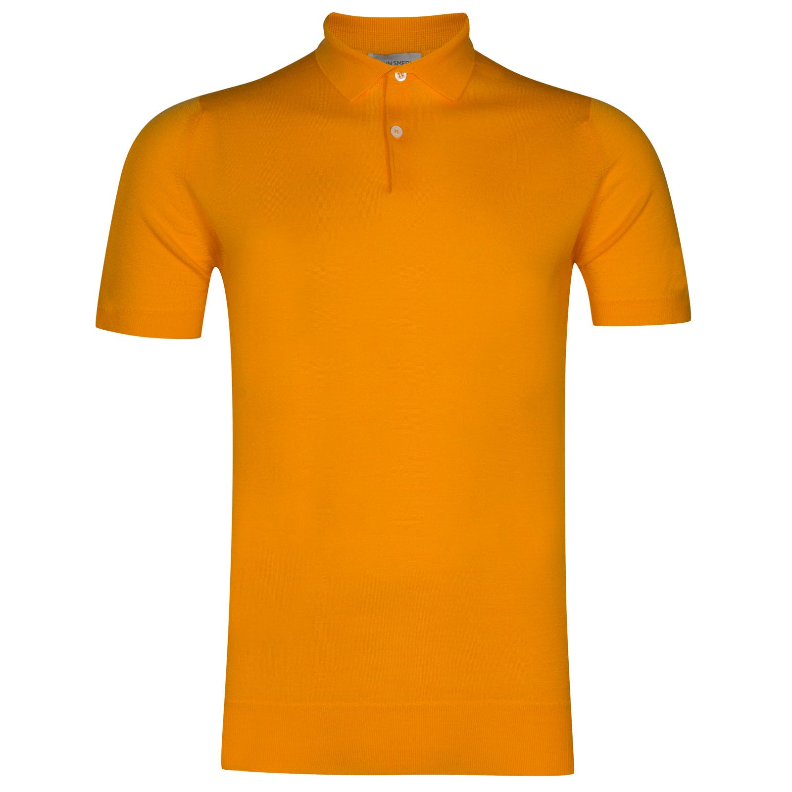 John Smedley payton Merino Wool Shirt in Buckthorn Orange-M