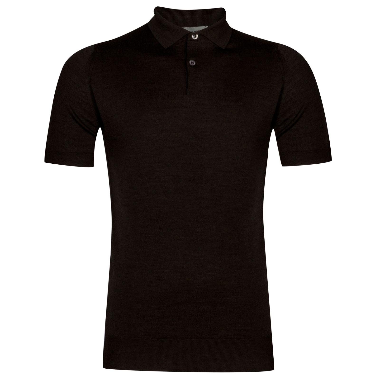 John Smedley Payton Merino Wool Shirt in Chestnut-L