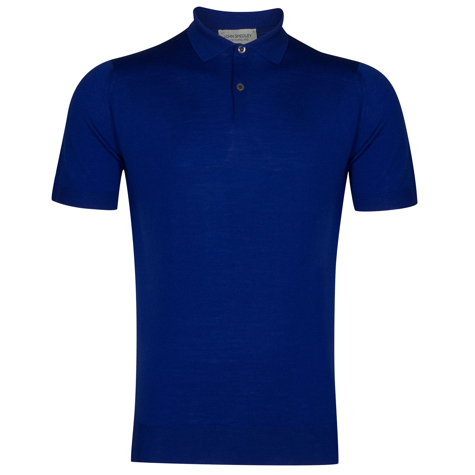 John Smedley payton Merino Wool Shirt in Coniston Blue-M