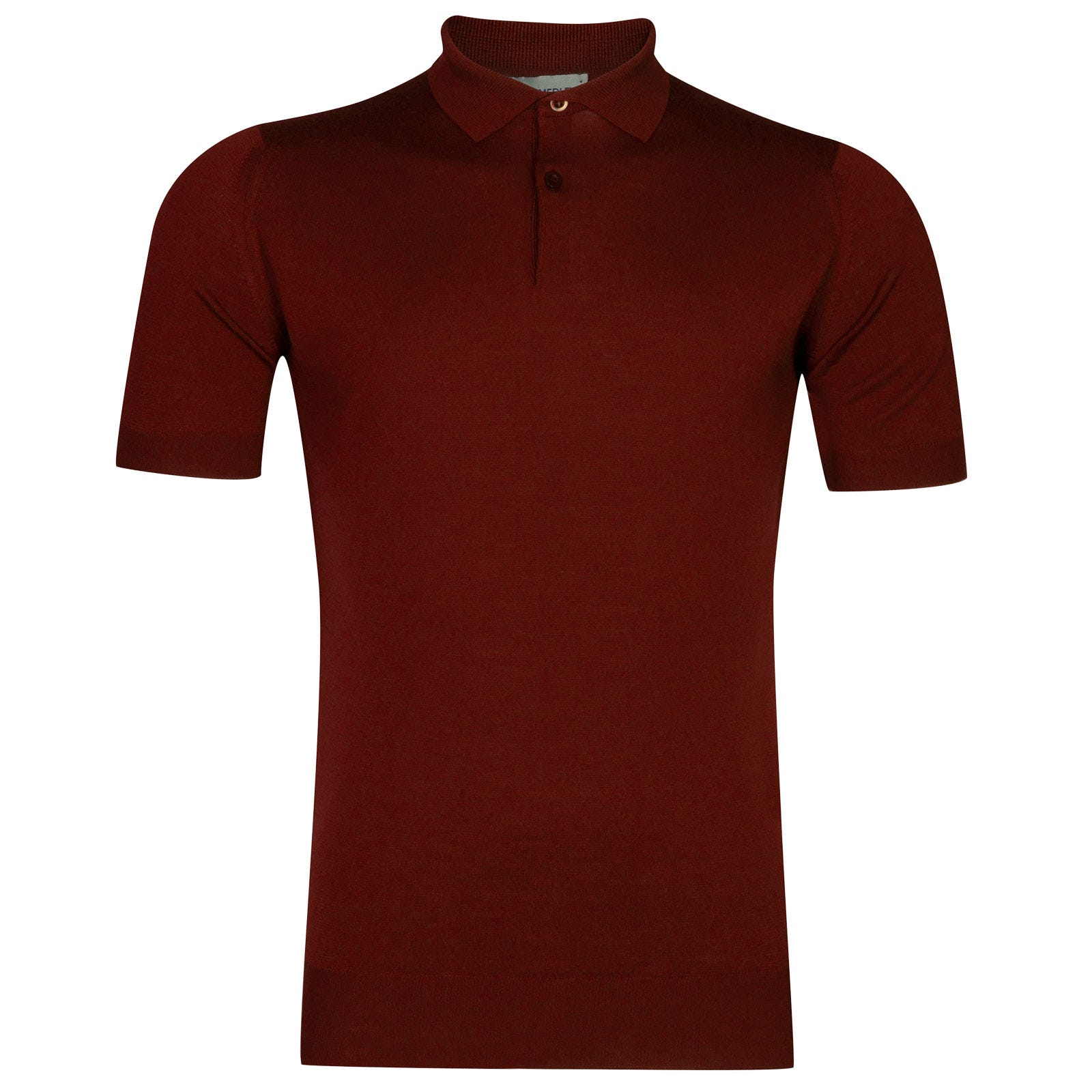 John Smedley payton Merino Wool Shirt in Crimson Forest-XXL