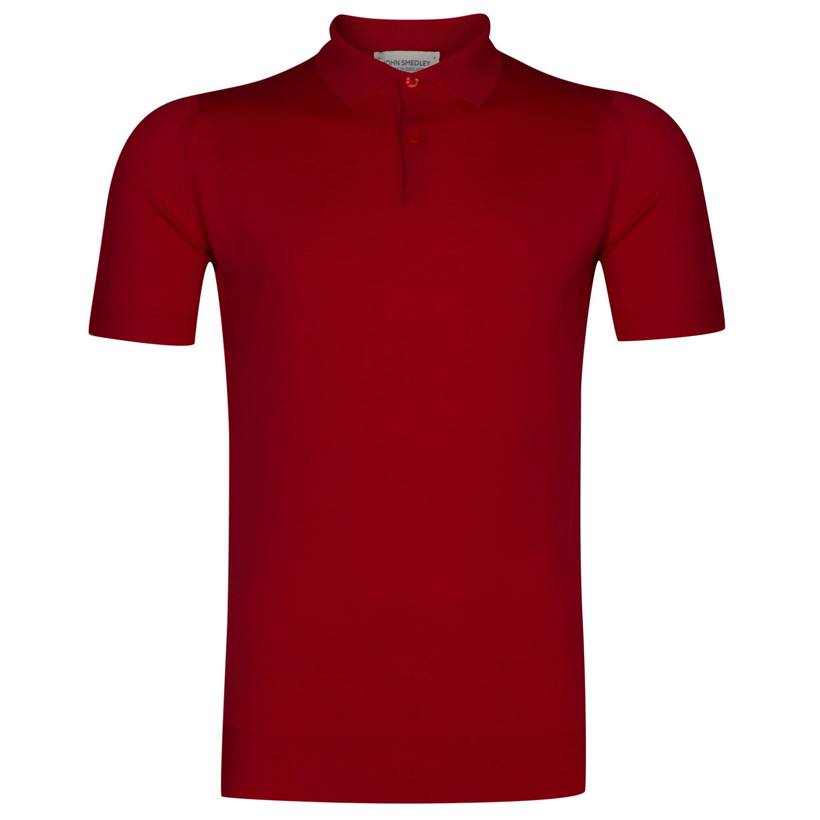 John Smedley Payton Merino Wool Shirt in Dandy Red-XXL