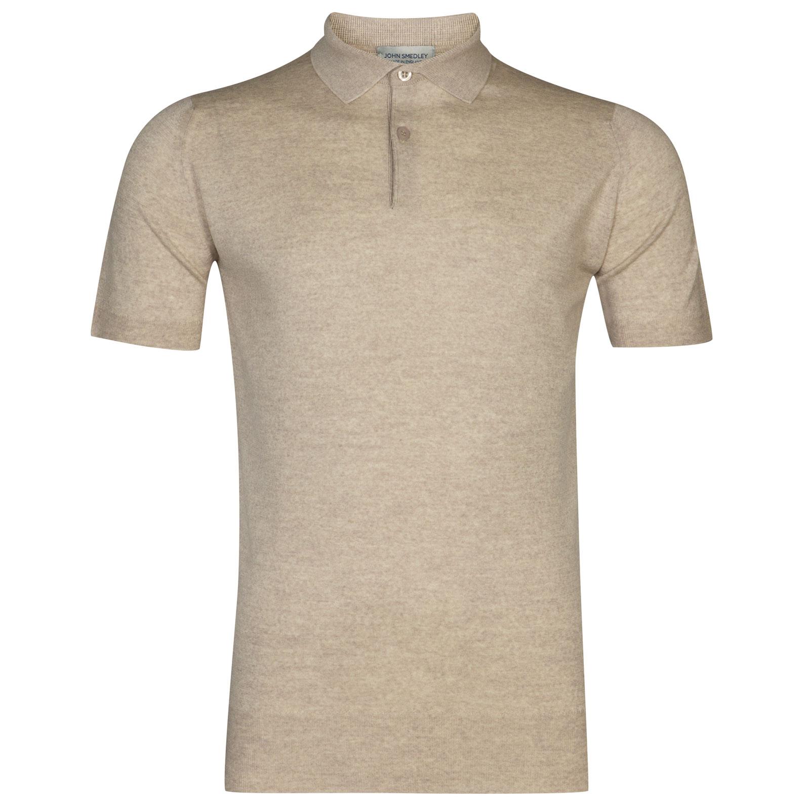 John Smedley Payton Merino Wool Shirt in Eastwood Beige-M