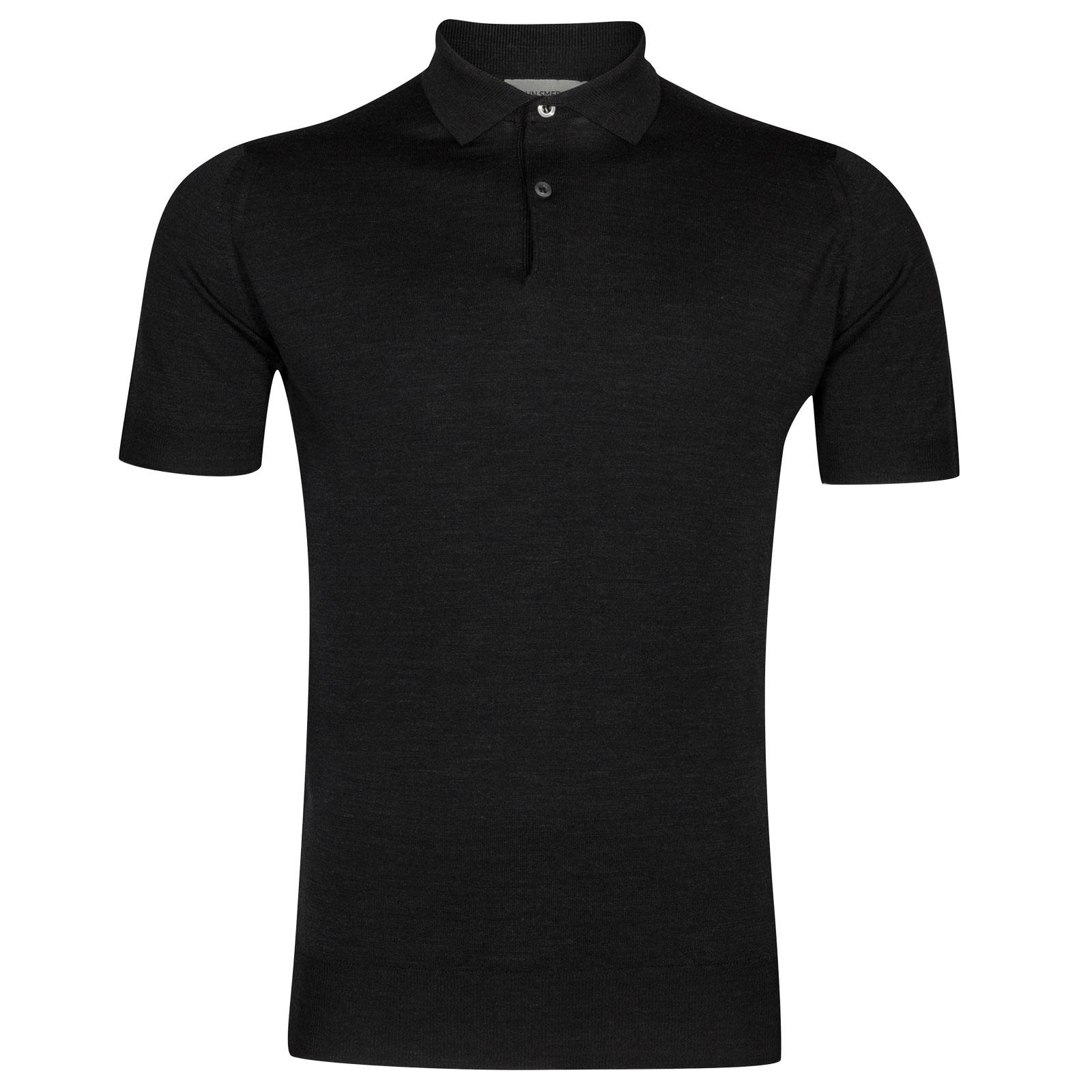 John Smedley payton Merino Wool Shirt in Hepburn Smoke-XL