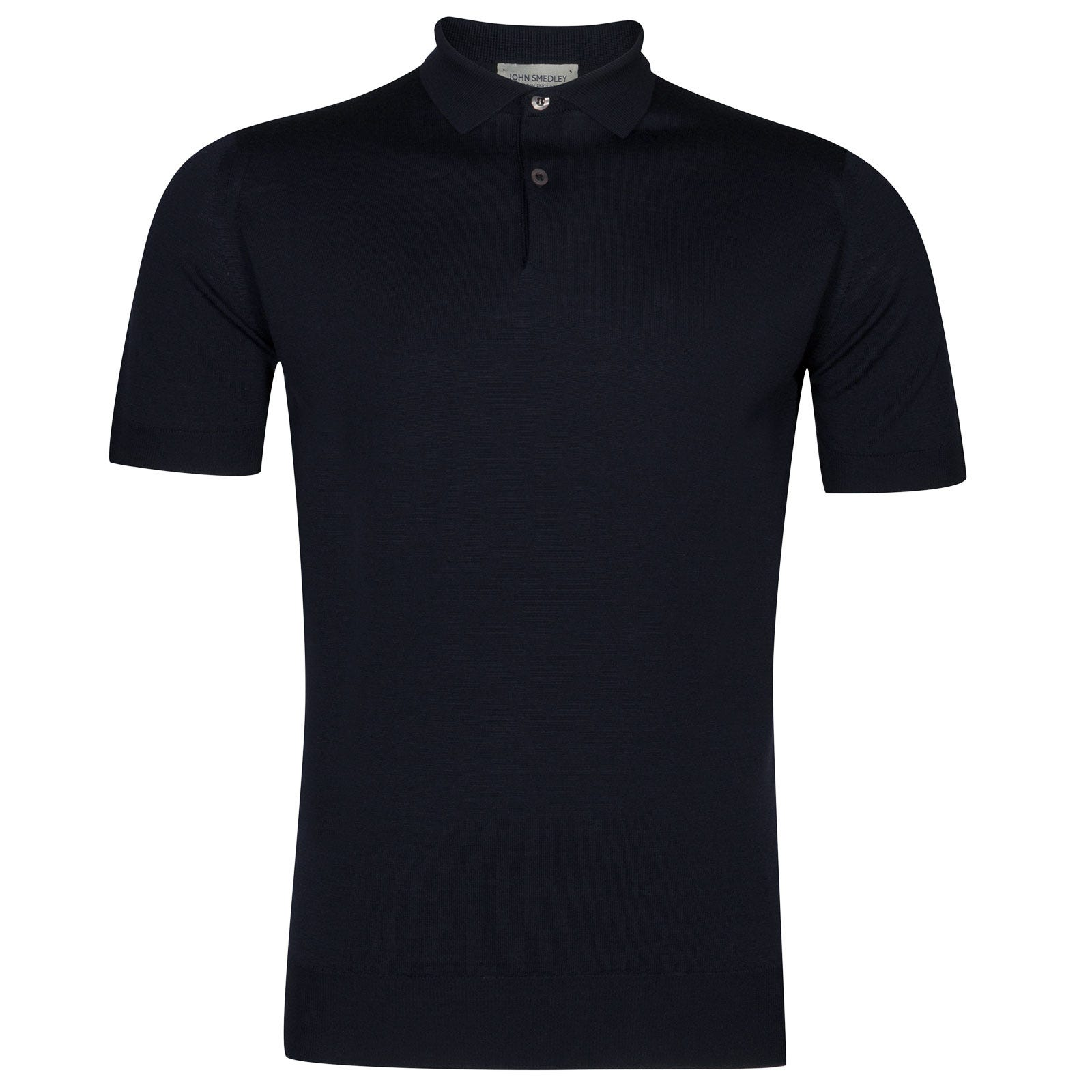 John Smedley payton Merino Wool Shirt in Midnight-XL