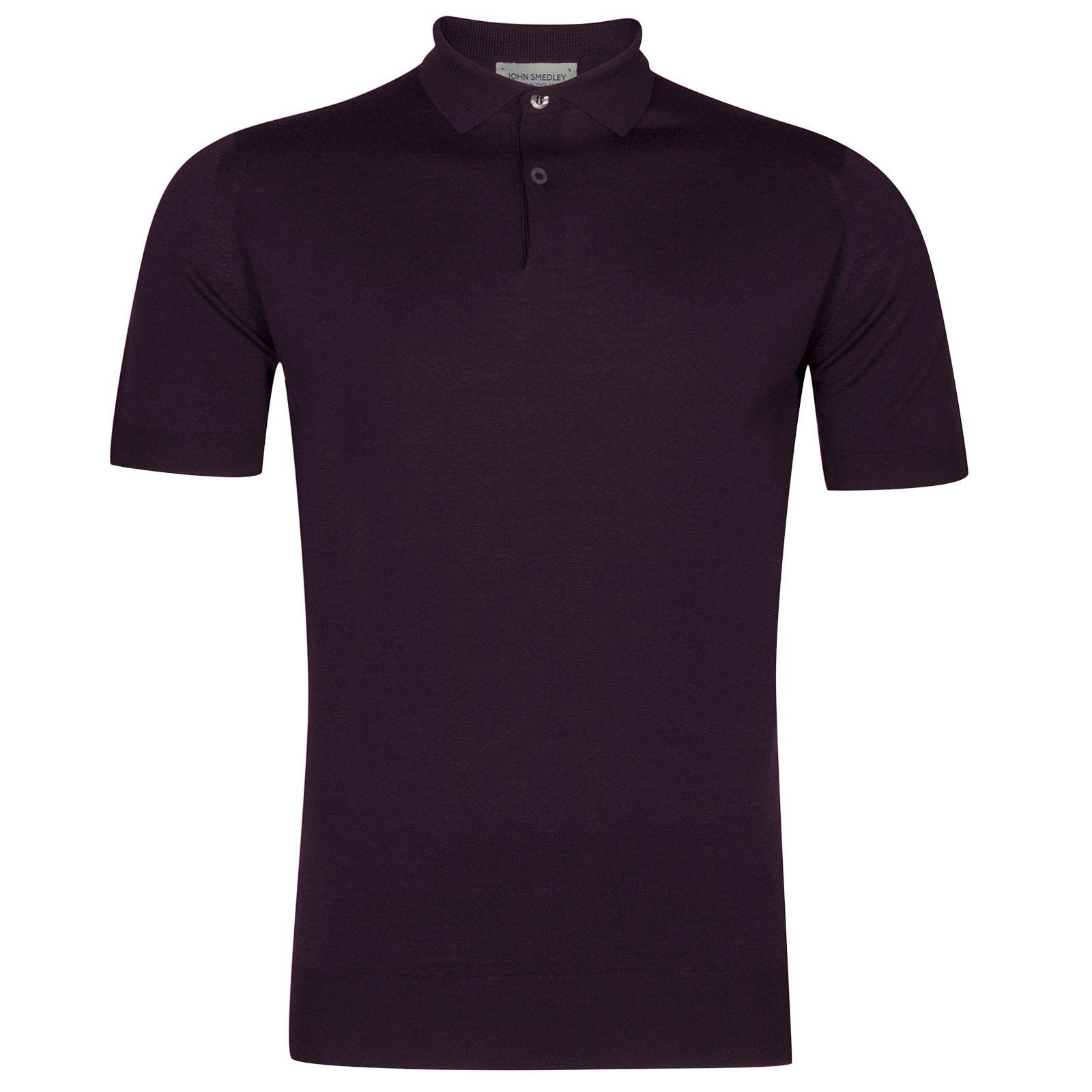 John Smedley Payton Merino Wool Shirt in Mystic Purple-L