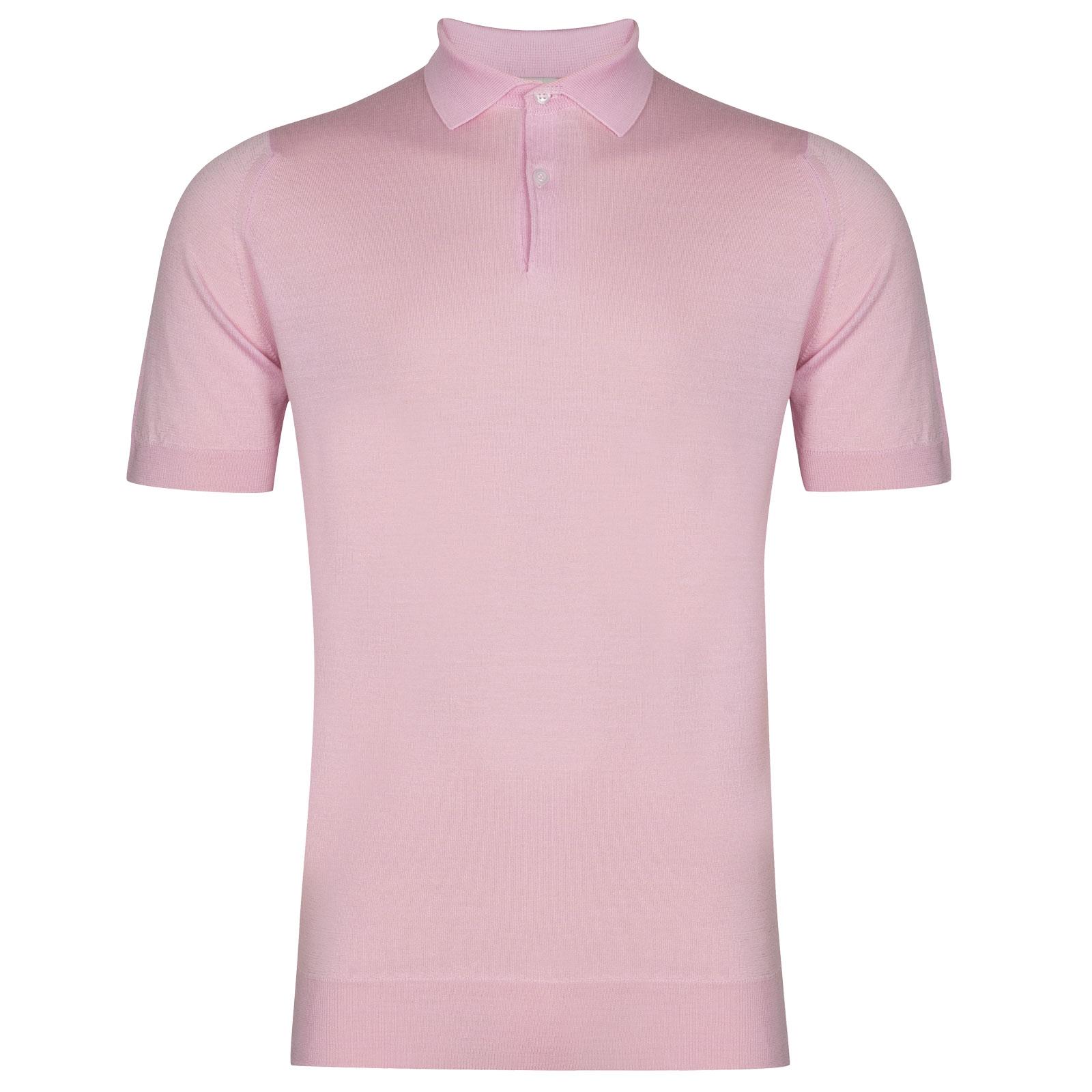 John Smedley Payton in Pink Blossom Shirt-XXL
