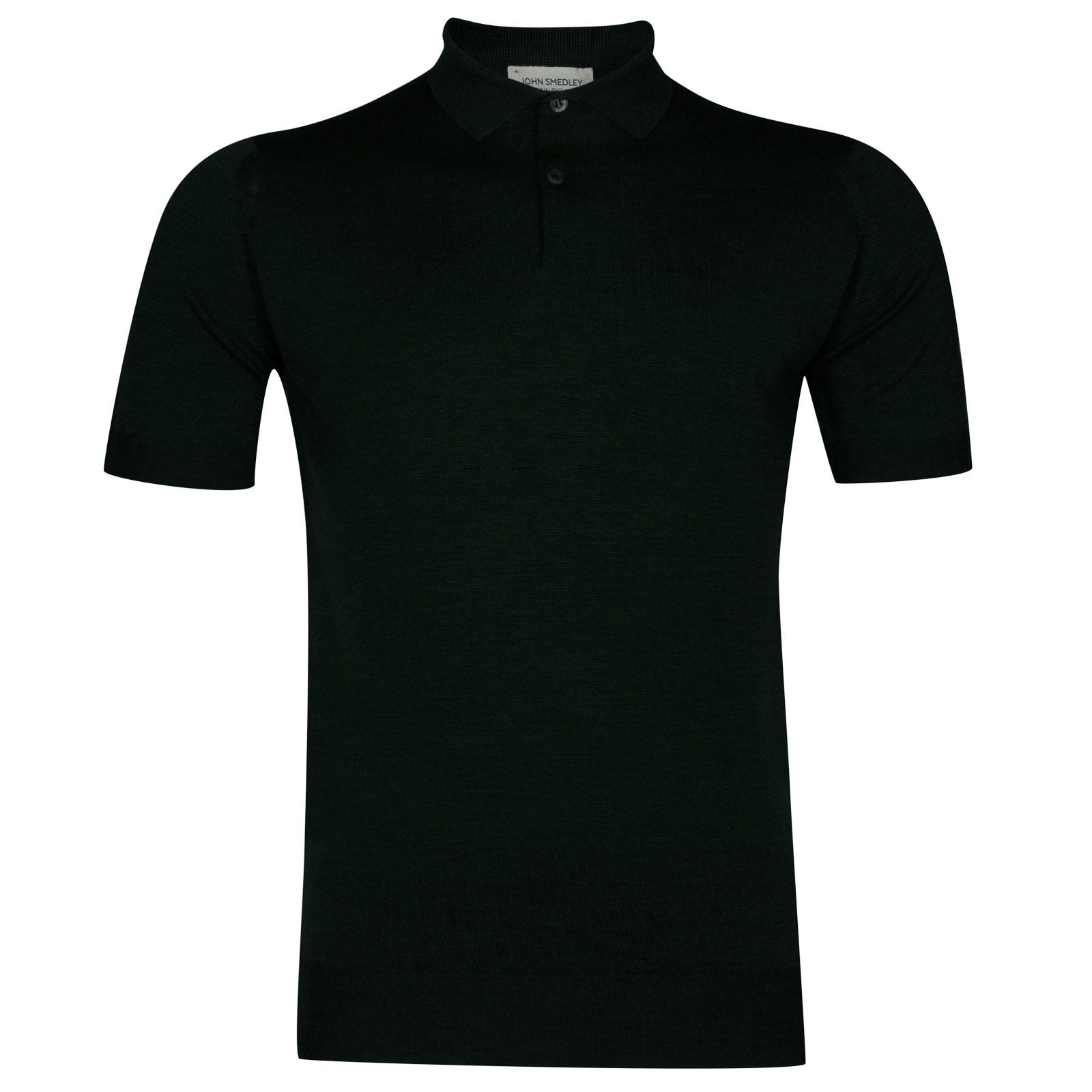 John Smedley payton Merino Wool Shirt in Racing Green-XXL