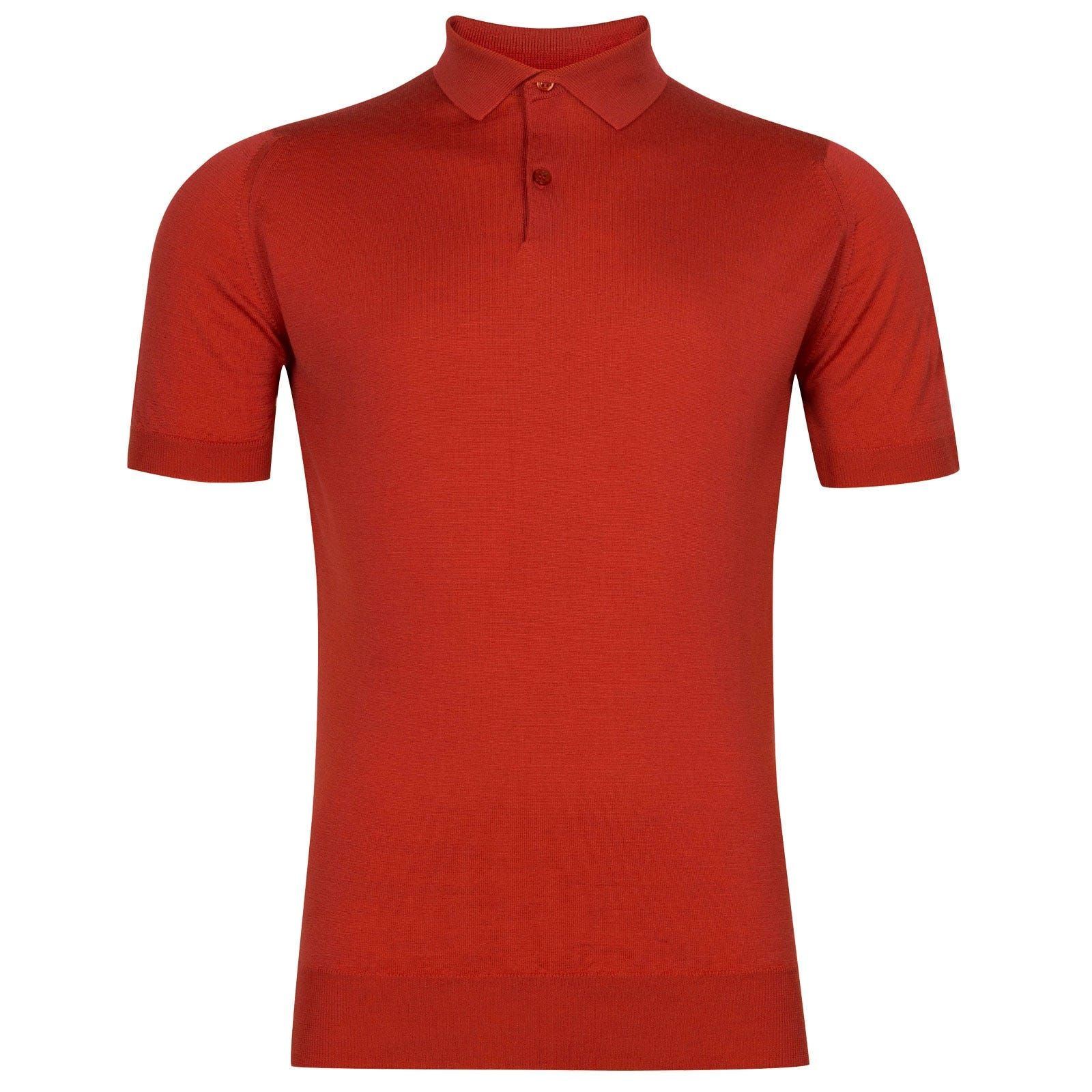 John Smedley Payton in Red Admiral Shirt-XLG