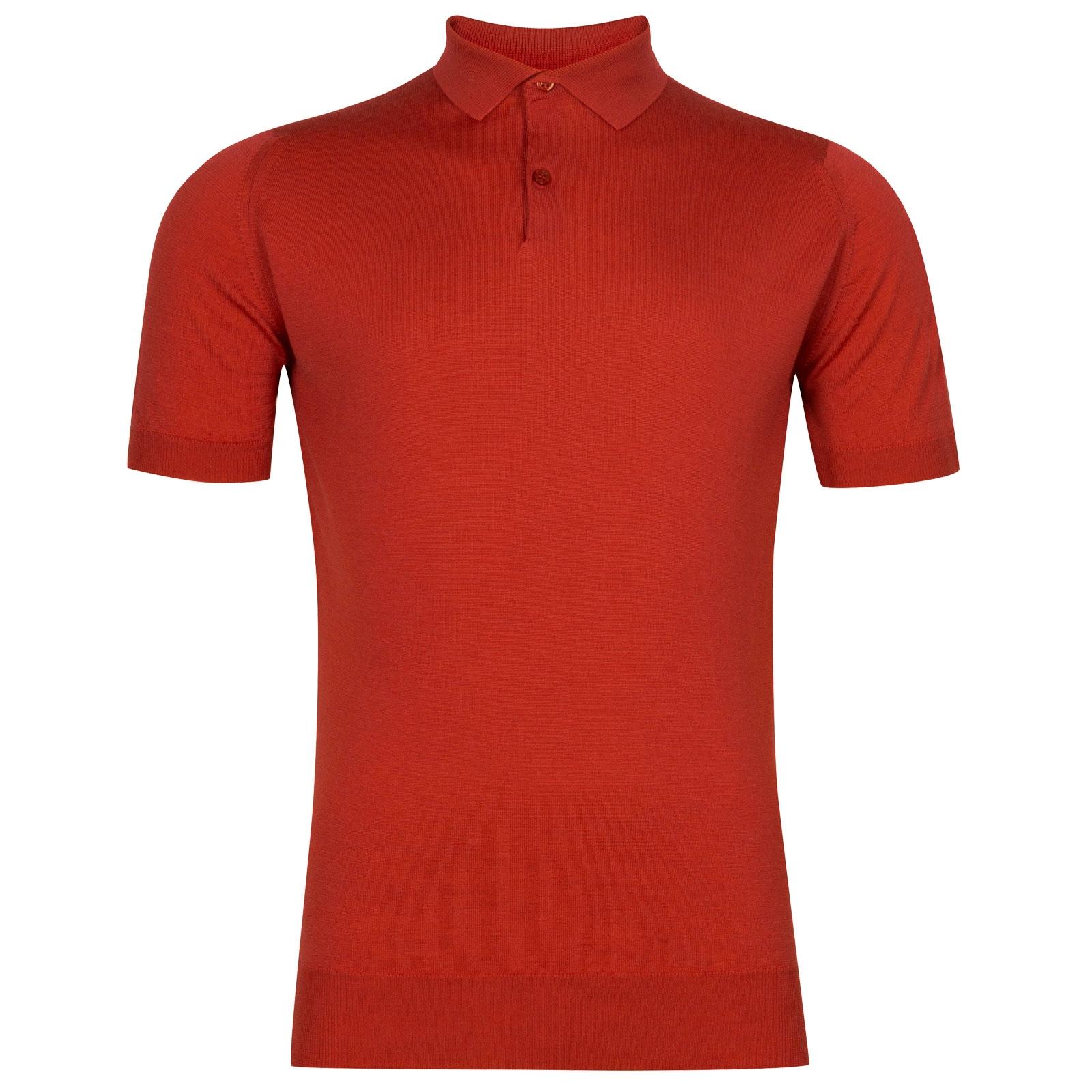 John Smedley Payton in Red Admiral Shirt-LGE