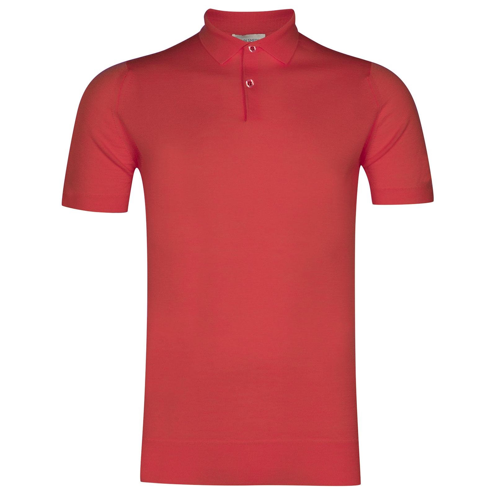 John Smedley Payton Merino Wool Shirt in Ruche Red-L