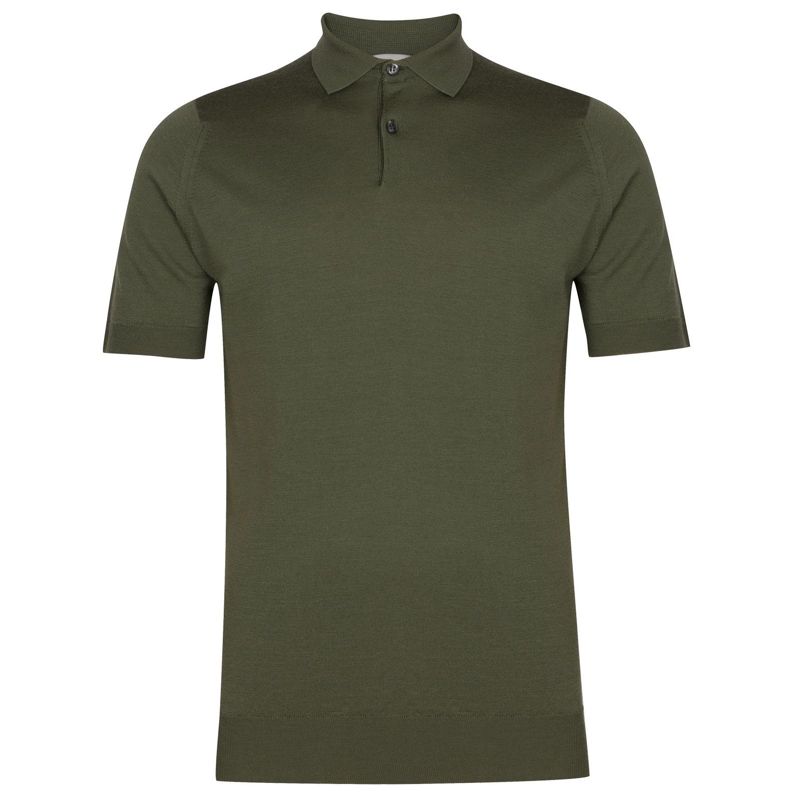 John Smedley Payton in Sepal Green Shirt-LGE